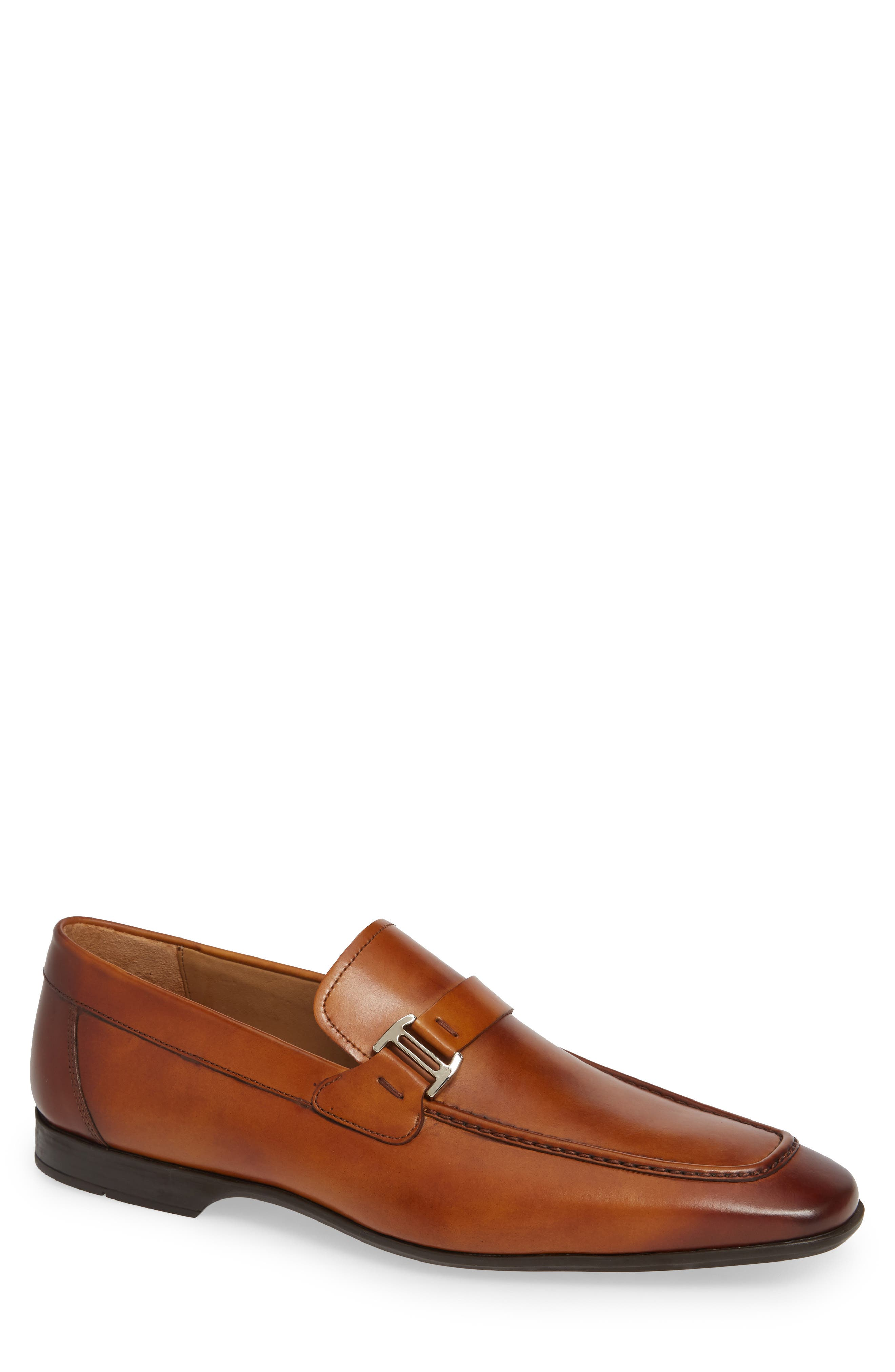 'Lino' Loafer,                             Main thumbnail 1, color,                             BROWN LEATHER