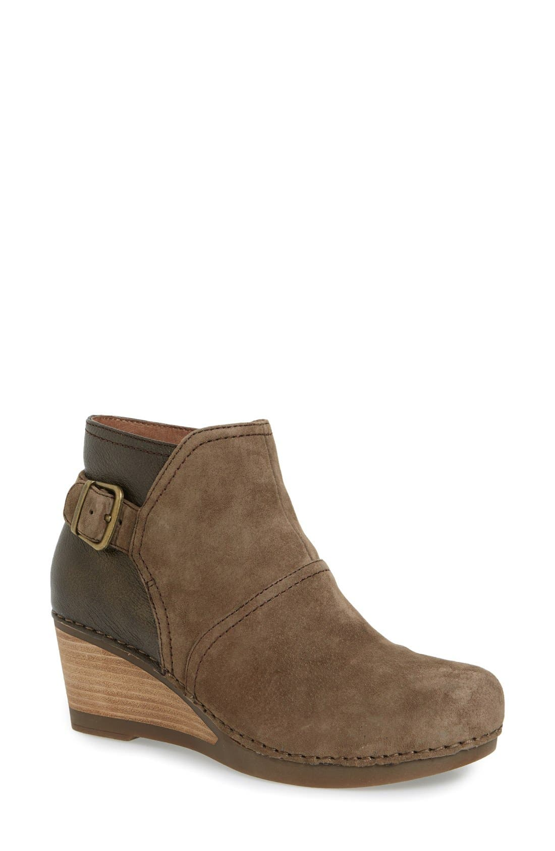 'Shirley' Wedge Bootie,                             Main thumbnail 4, color,