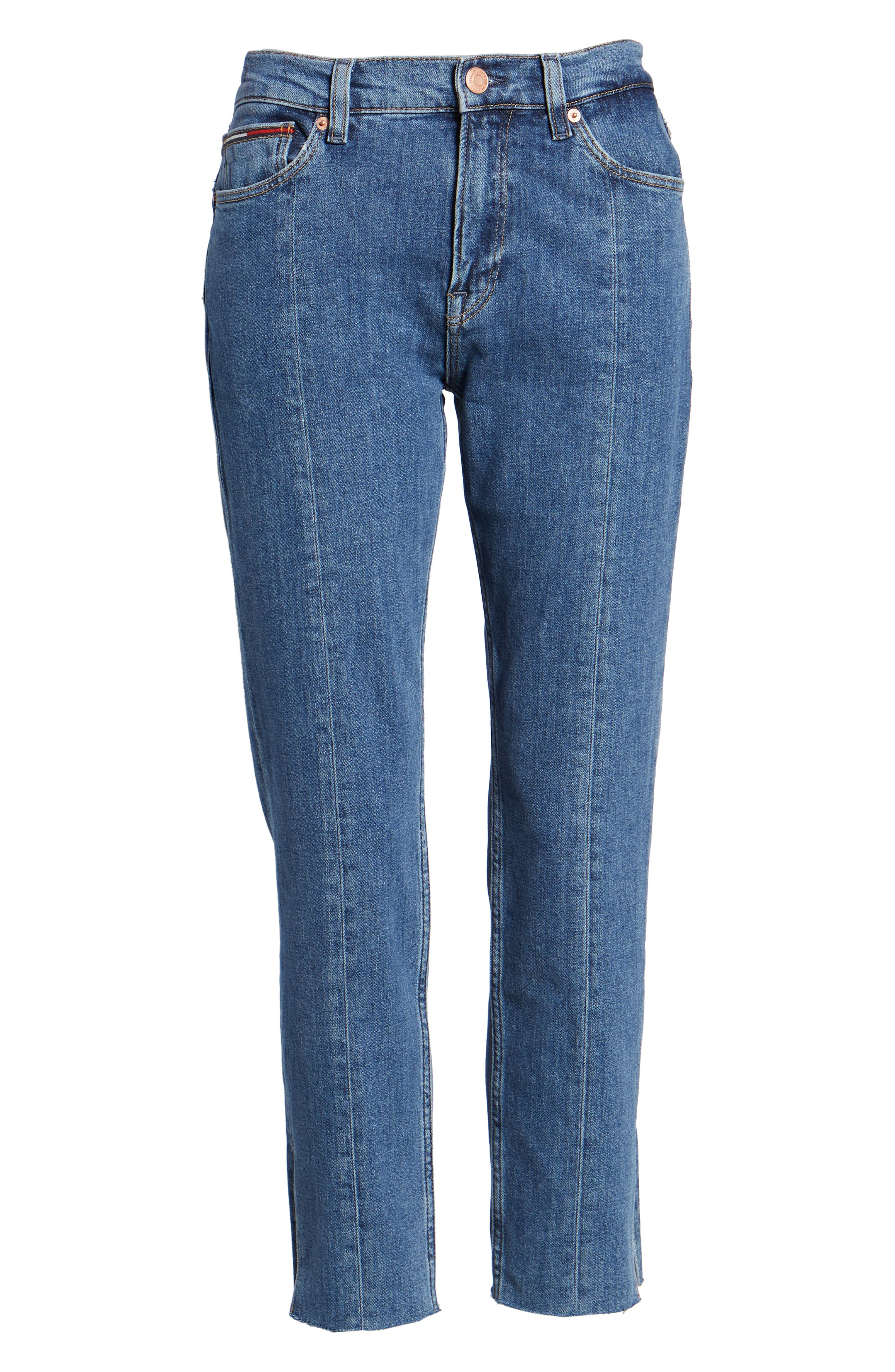 Izzy High Rise Center Seam Slim Jeans,                             Alternate thumbnail 6, color,                             400