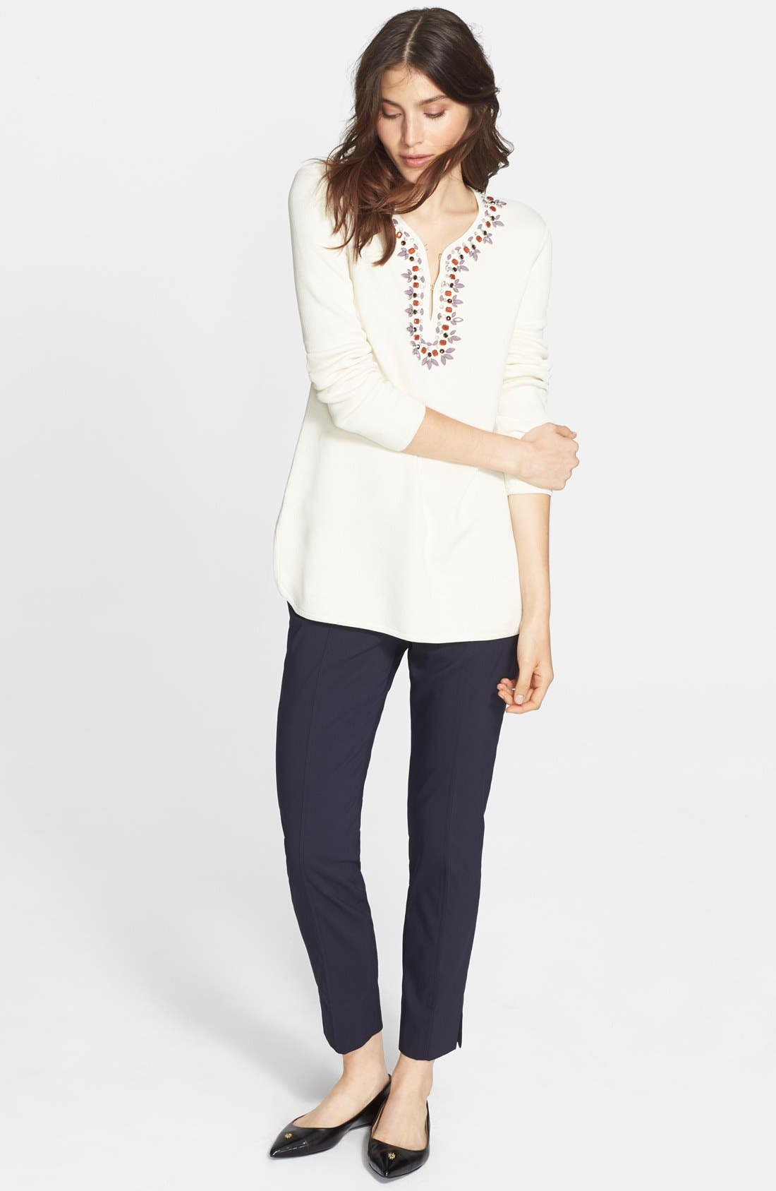 TORY BURCH,                             Embellished Tunic,                             Alternate thumbnail 5, color,                             907
