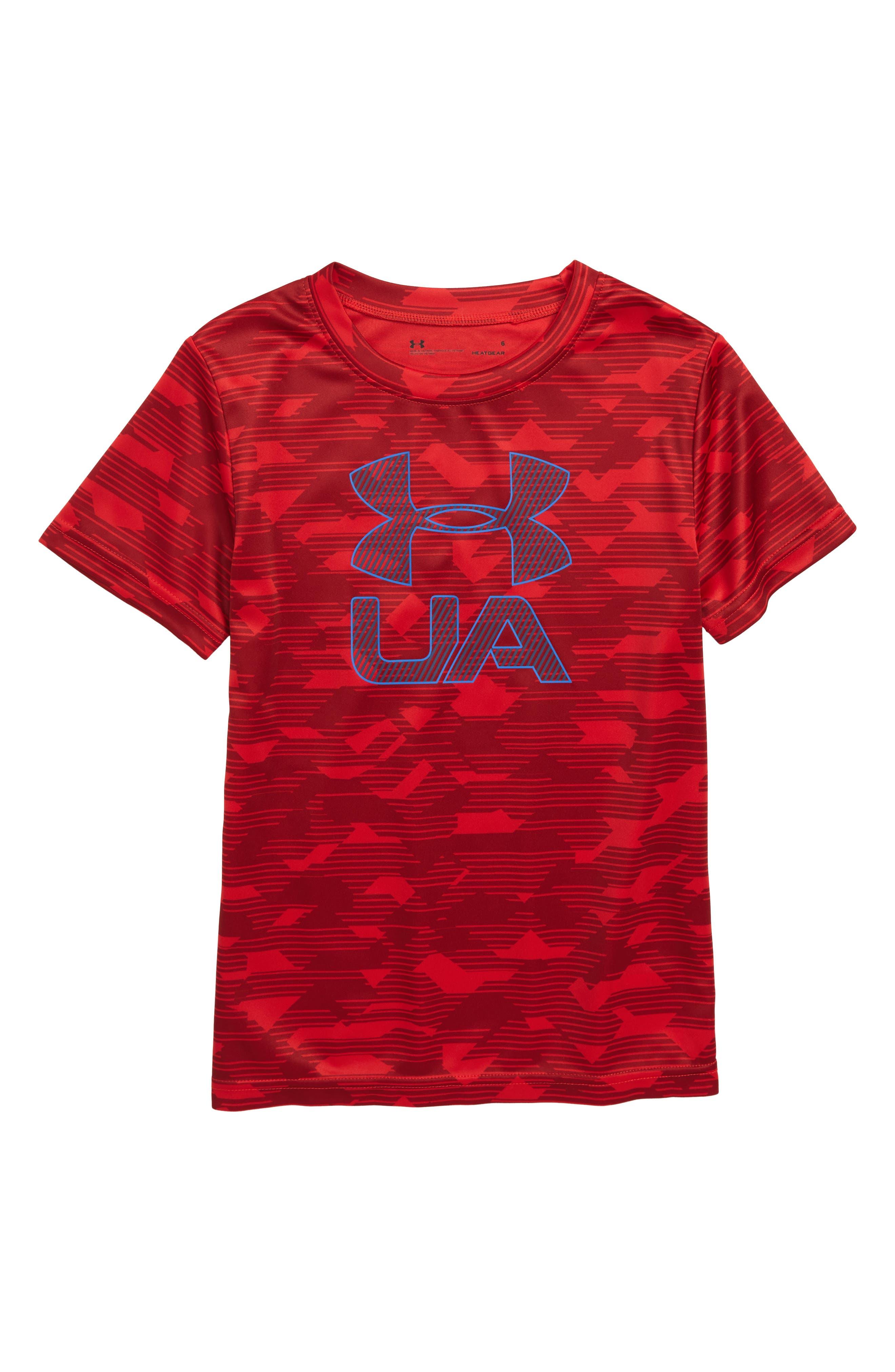 Edge Logo HeatGear<sup>®</sup> T-Shirt,                             Main thumbnail 2, color,