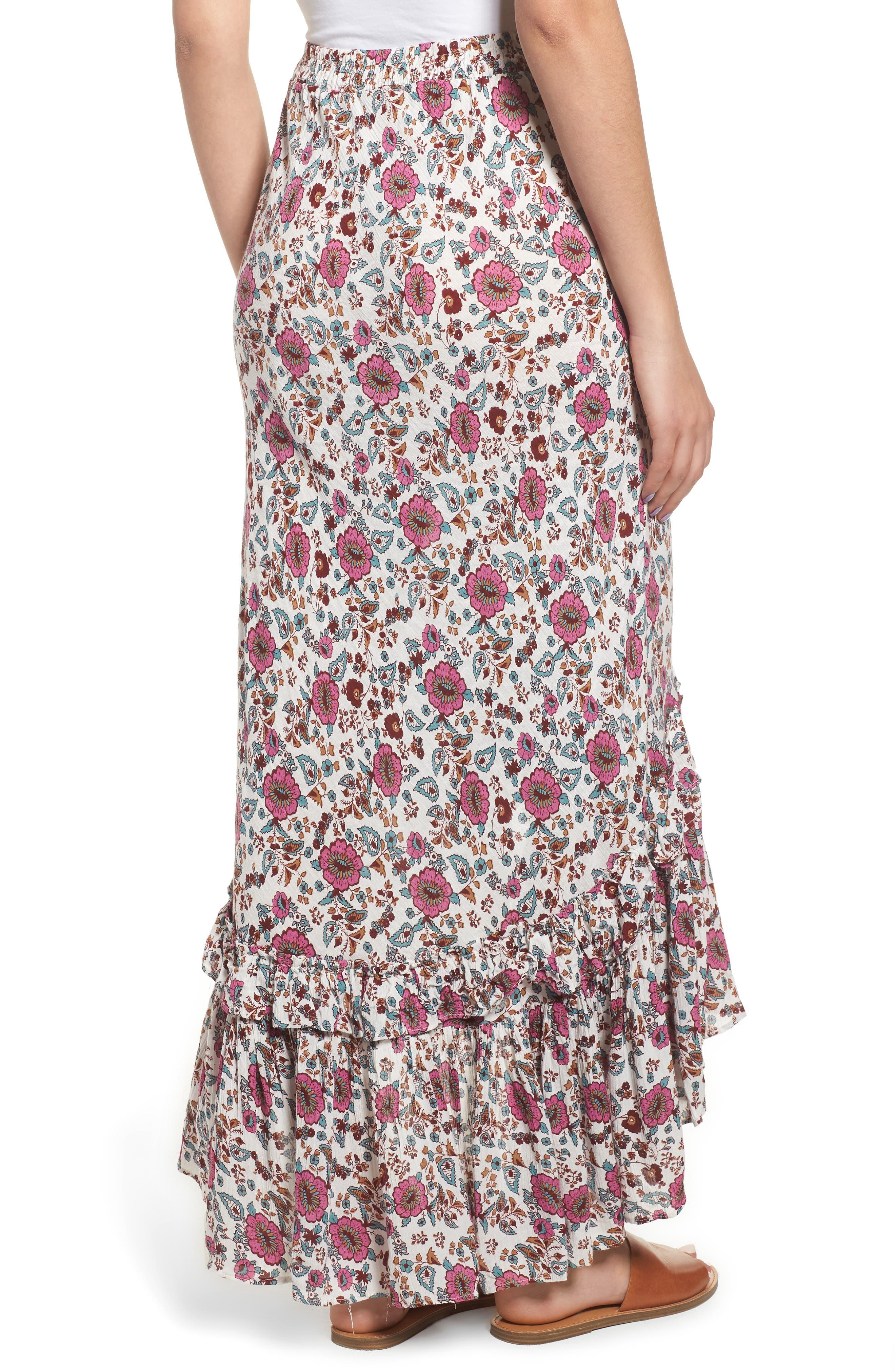 Summer Bloom Ruffle Skirt,                             Alternate thumbnail 2, color,                             650