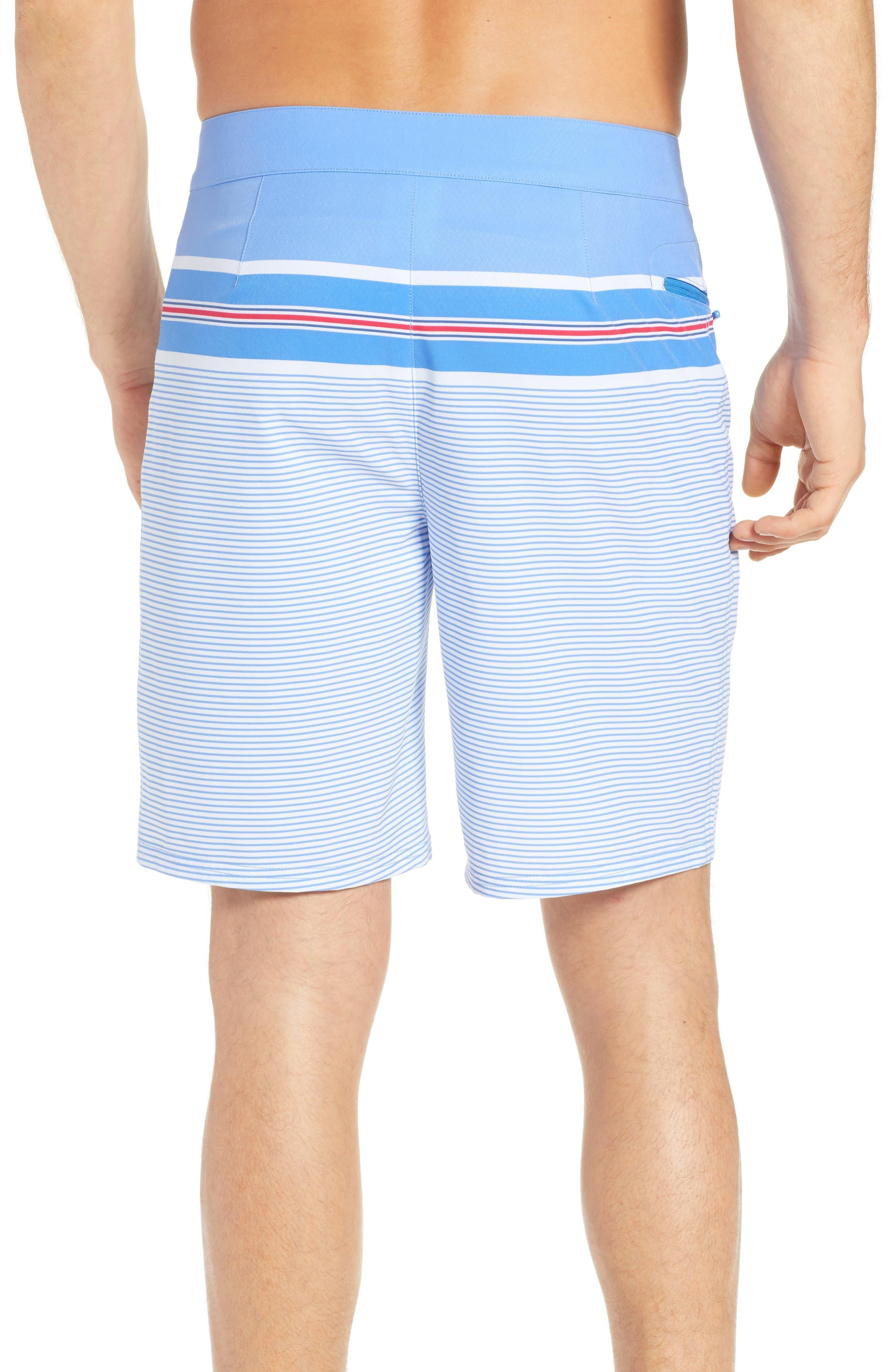 VINEYARD VINES,                             Birchcliff Stripe Board Shorts,                             Alternate thumbnail 2, color,                             484