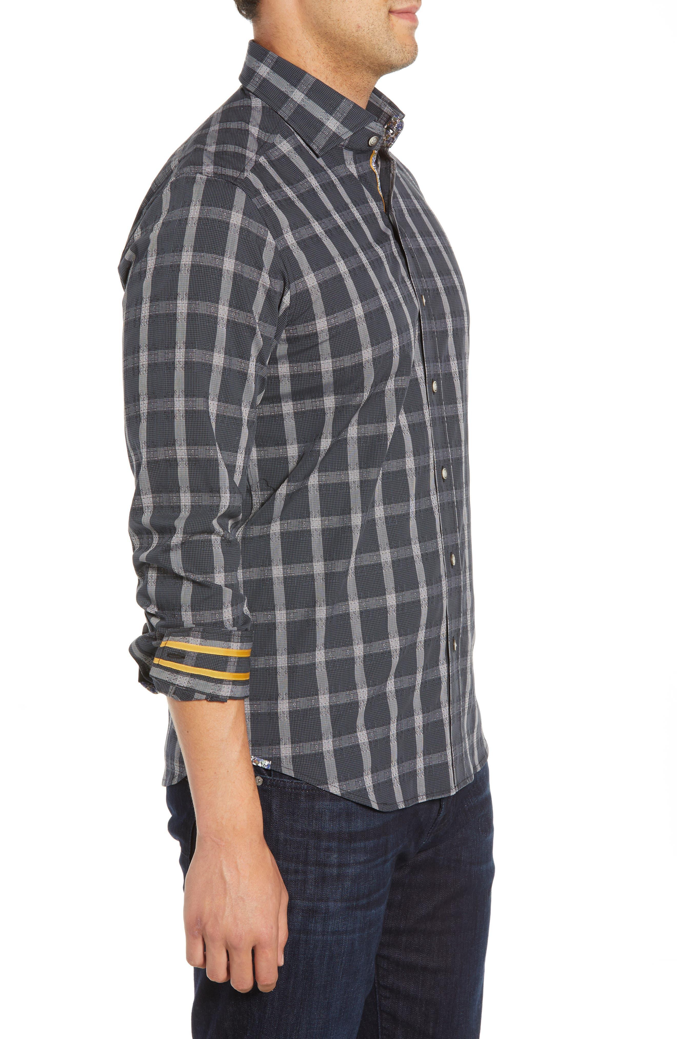 Jenson Tailored Fit Sport Shirt,                             Alternate thumbnail 4, color,                             BLACK