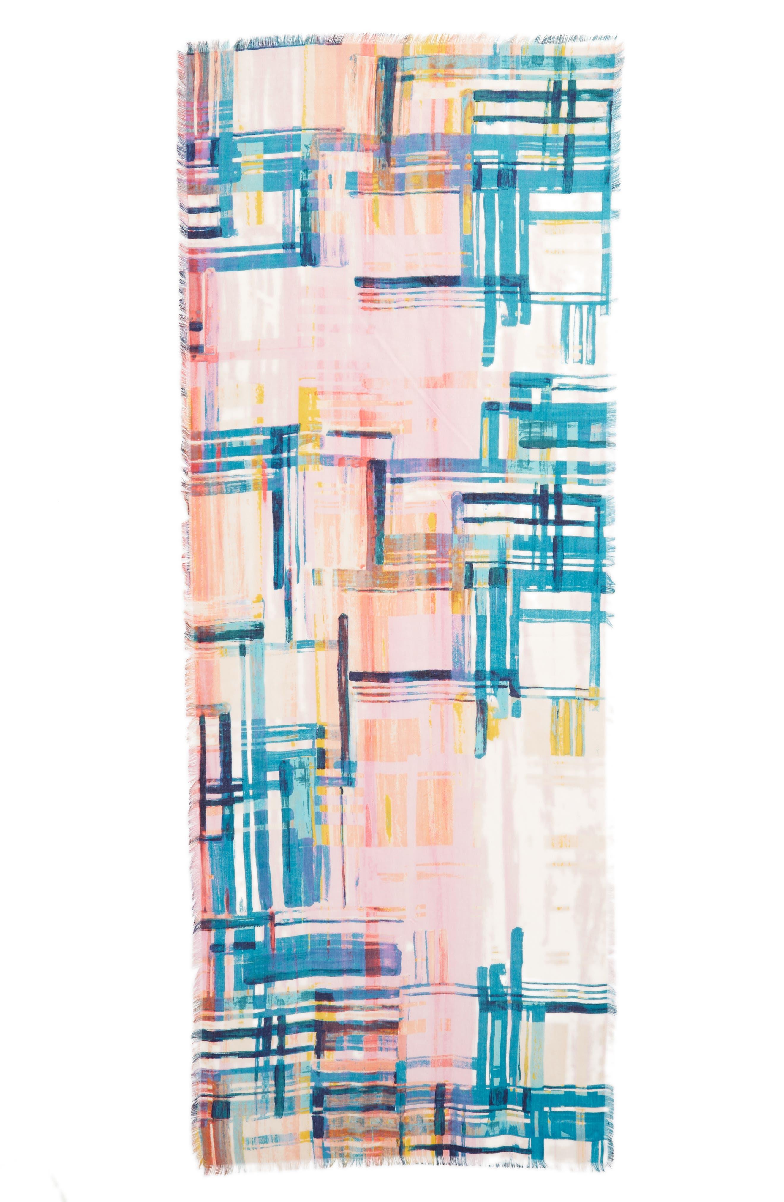 Eyelash Trim Print Cashmere & Silk Wrap,                             Alternate thumbnail 86, color,