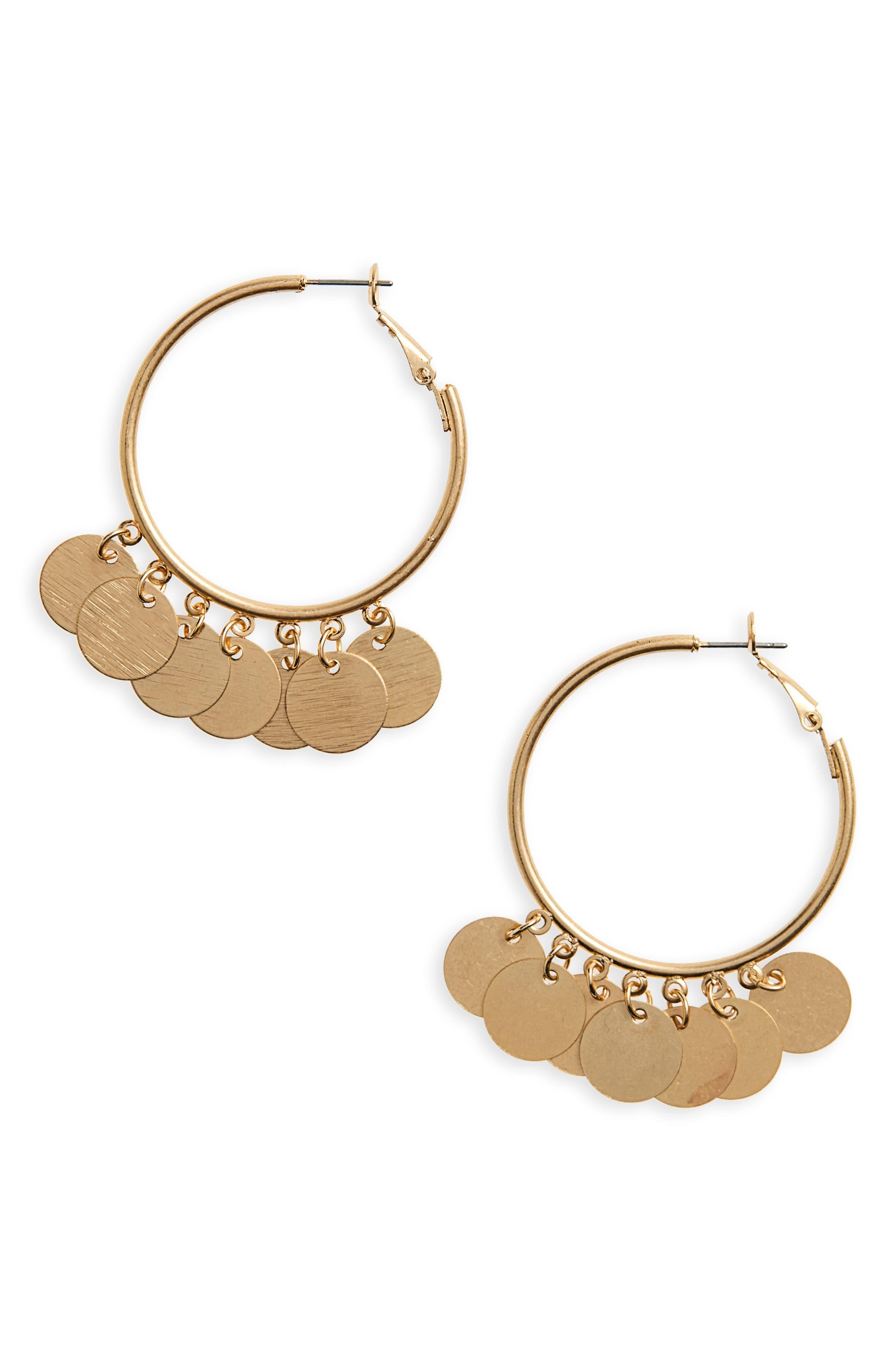 Disc Hoop Earrings,                         Main,                         color,