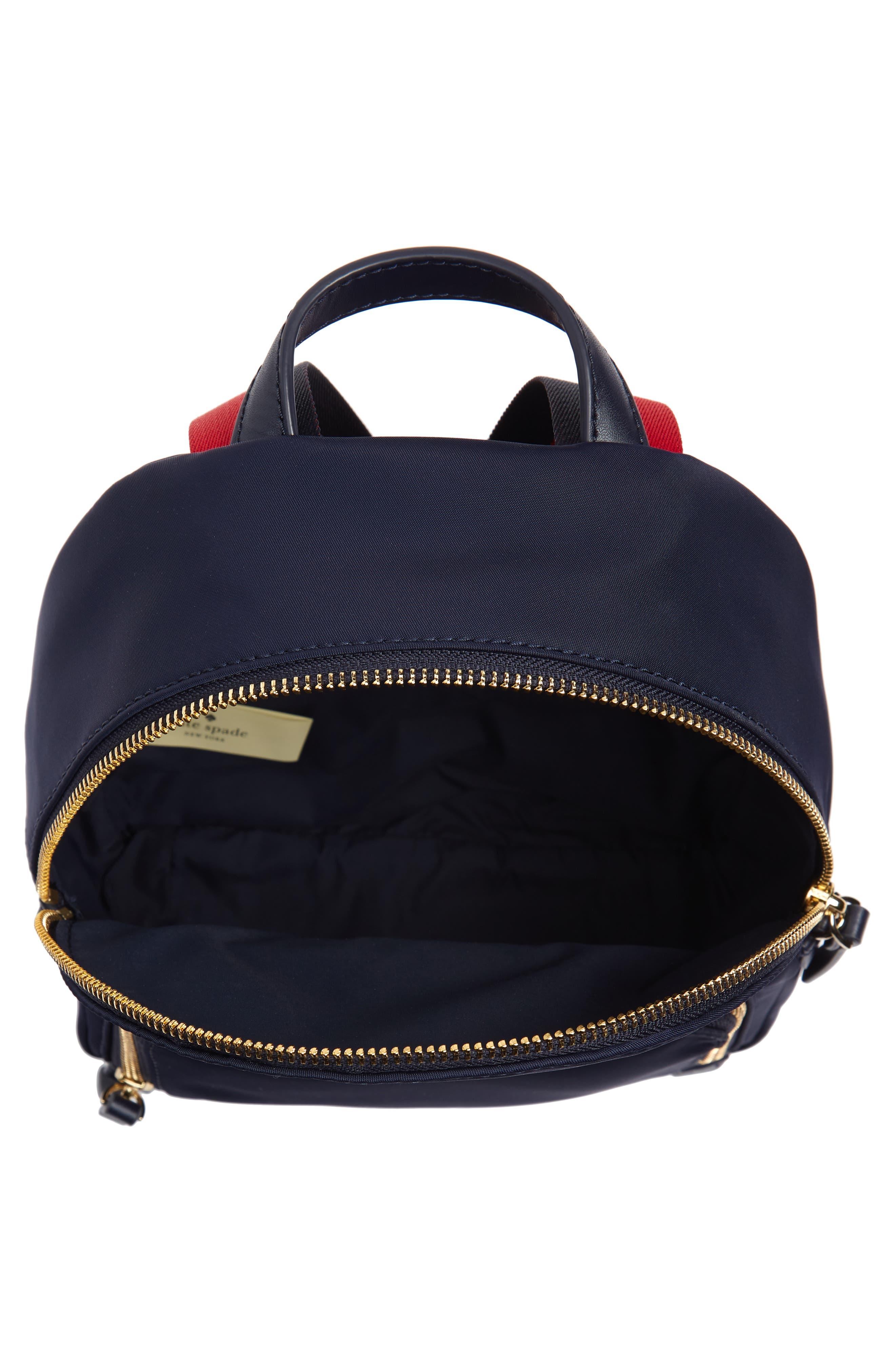 KATE SPADE NEW YORK,                             kate spade watson lane varsity stripe small backpack,                             Alternate thumbnail 4, color,                             400
