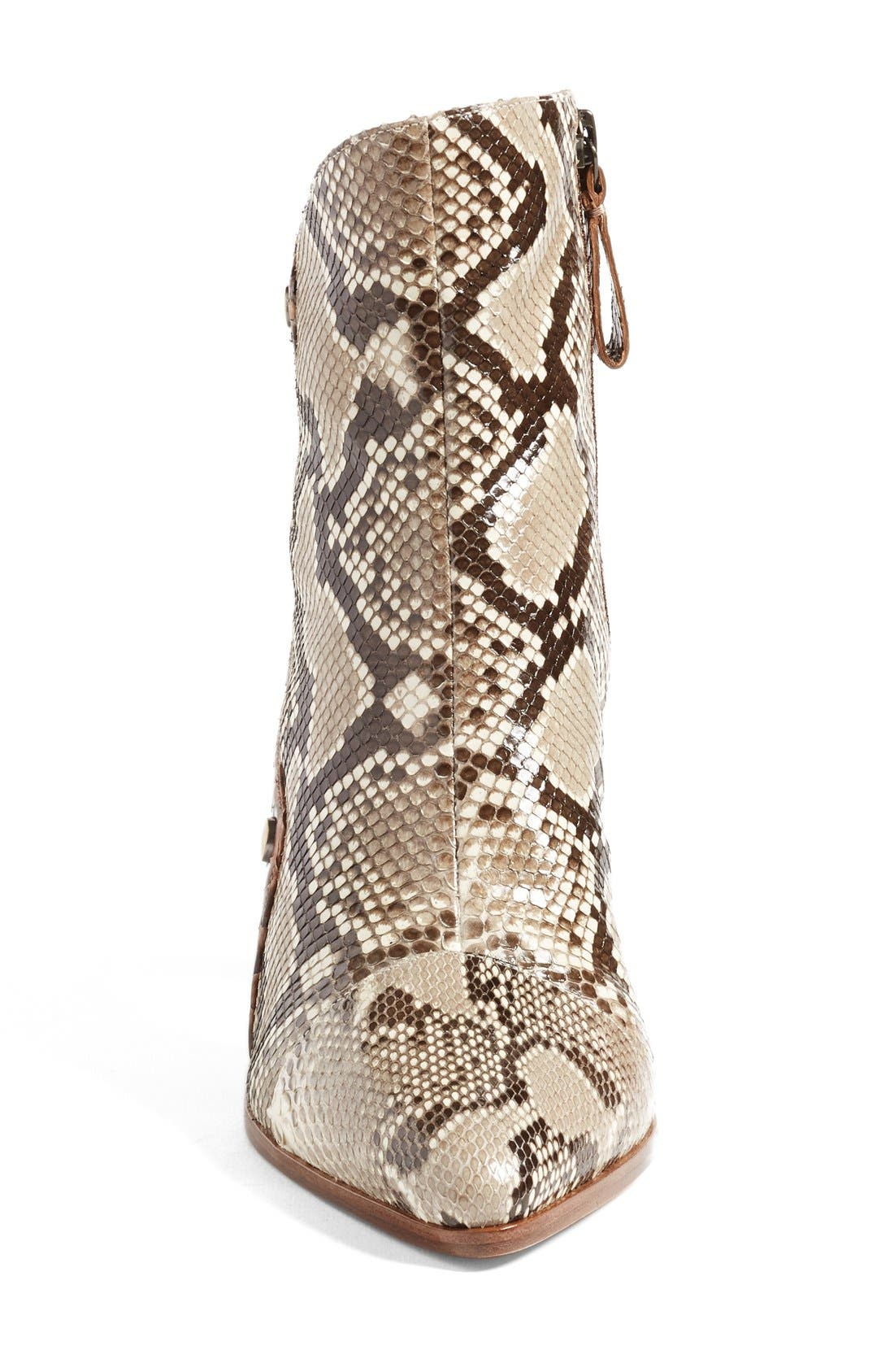 'Kendal' Genuine Python Skin Pointy Toe Bootie,                             Alternate thumbnail 2, color,                             250