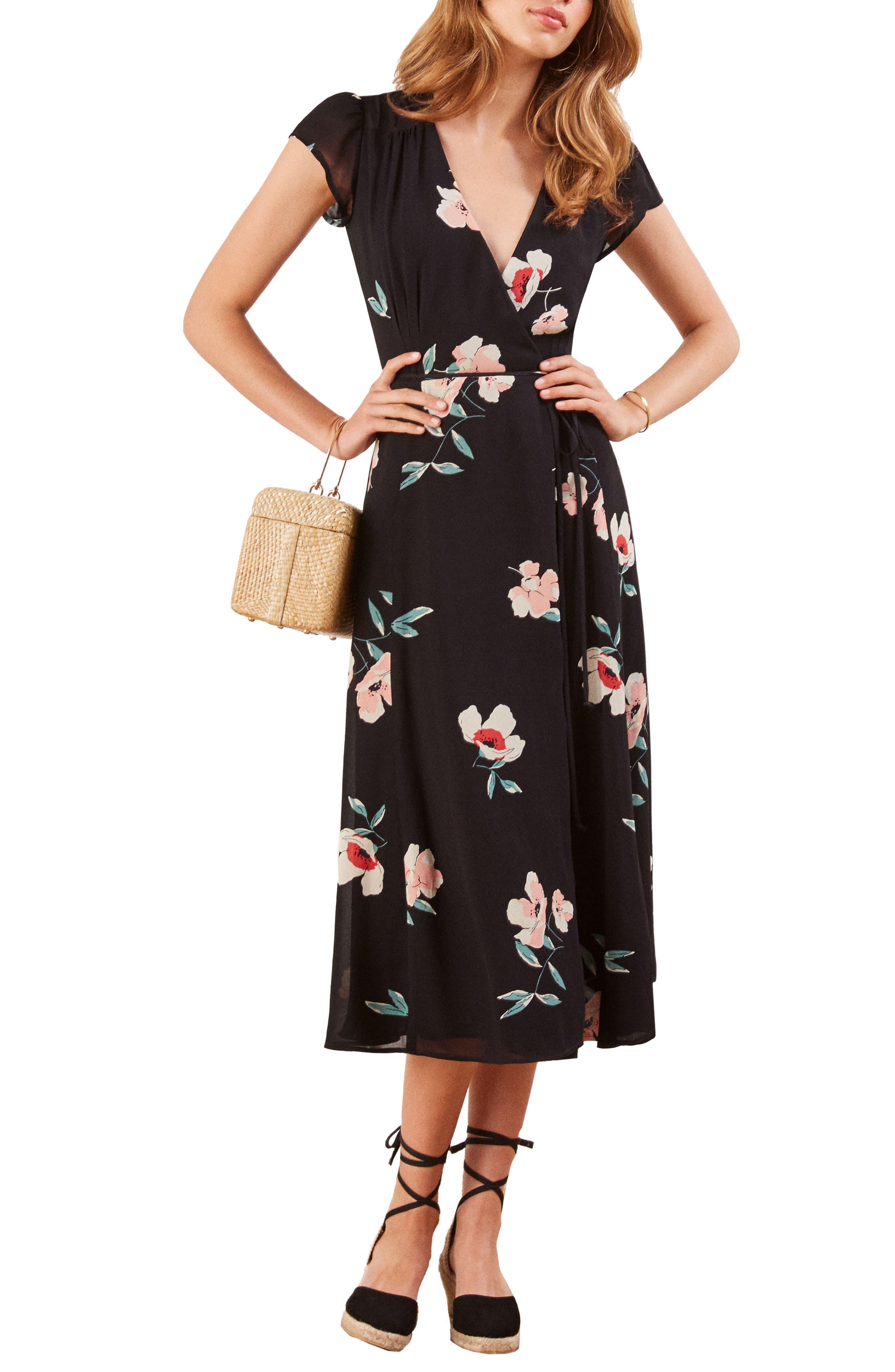Carina Midi Wrap Dress,                             Alternate thumbnail 6, color,                             ORNAMENT