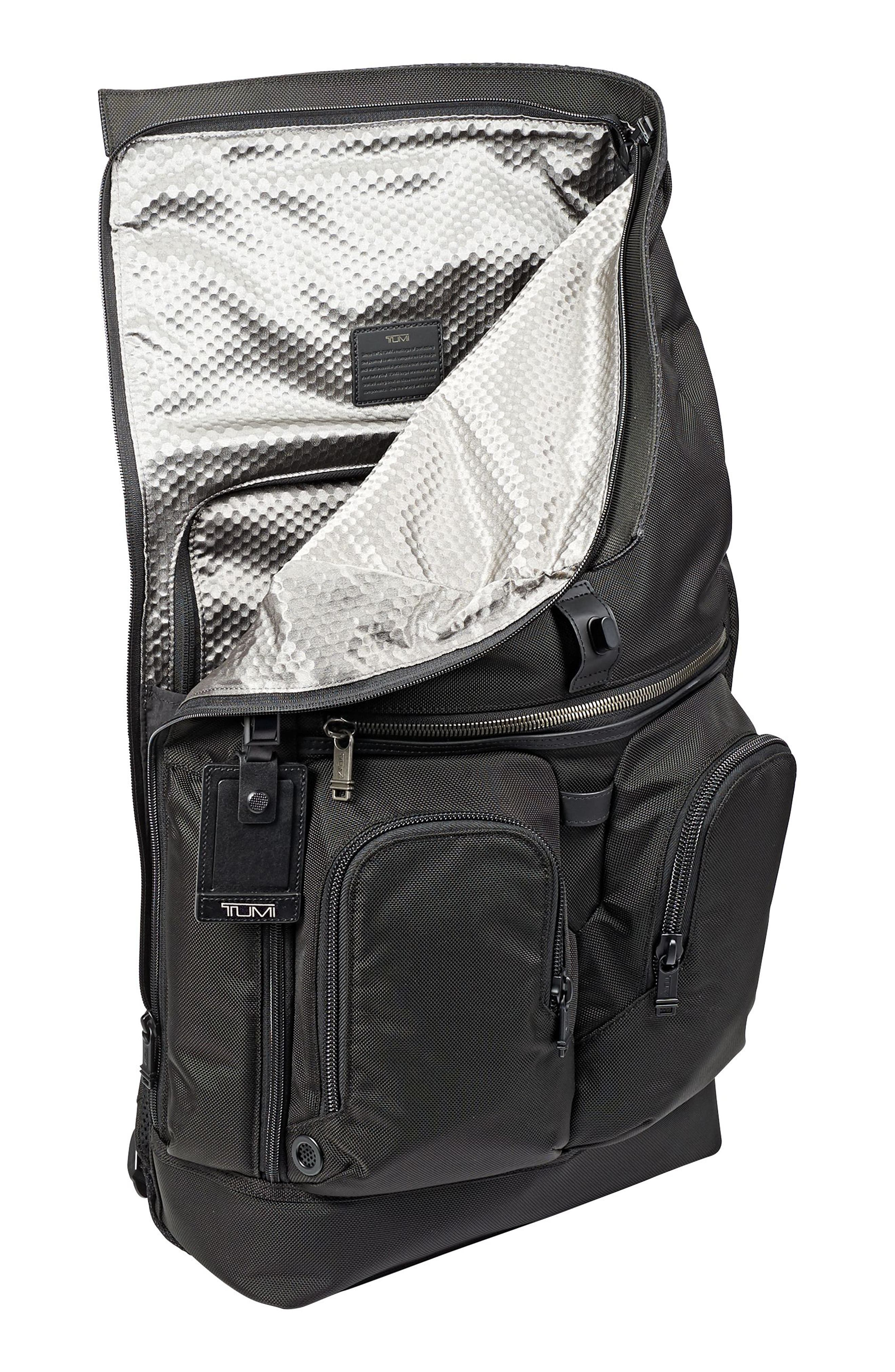 Alpha Bravo - London Backpack,                             Alternate thumbnail 5, color,                             BLACK