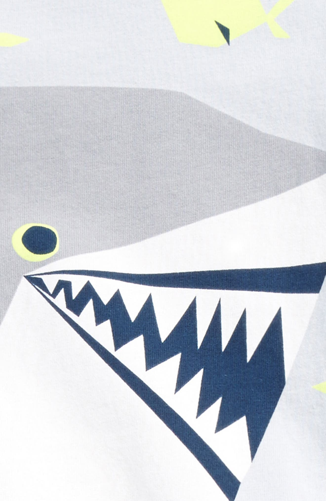 Smiling Shark T-Shirt & Shorts Set,                             Alternate thumbnail 2, color,                             020