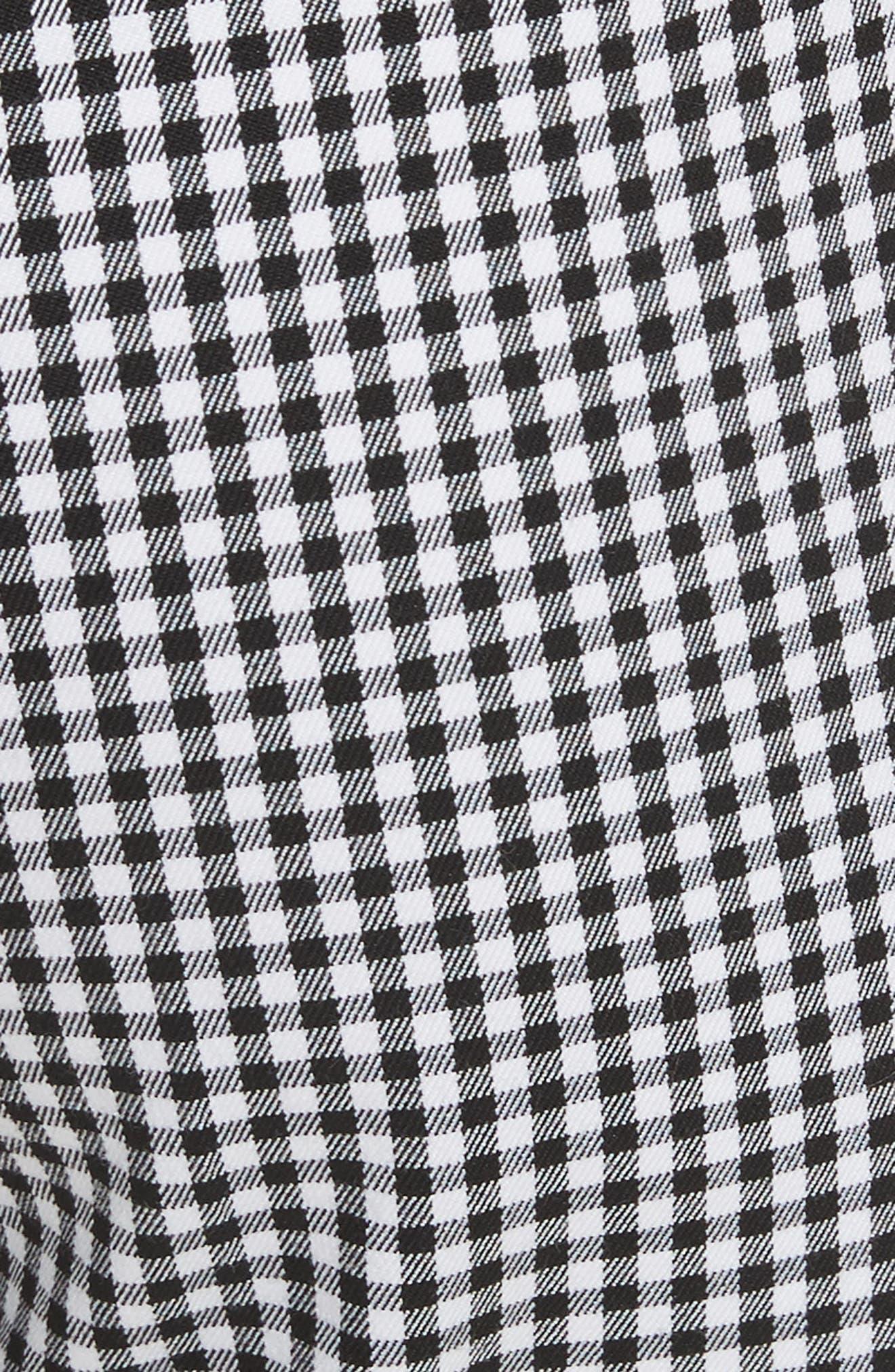 Gingham Stretch Cotton Pants,                             Alternate thumbnail 5, color,                             003