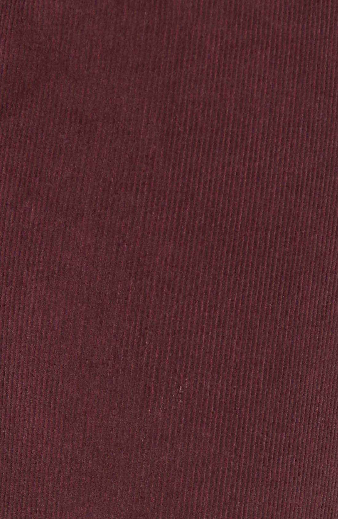 'Verdugo' Ankle Skinny Corduroy Pants,                             Alternate thumbnail 6, color,                             500