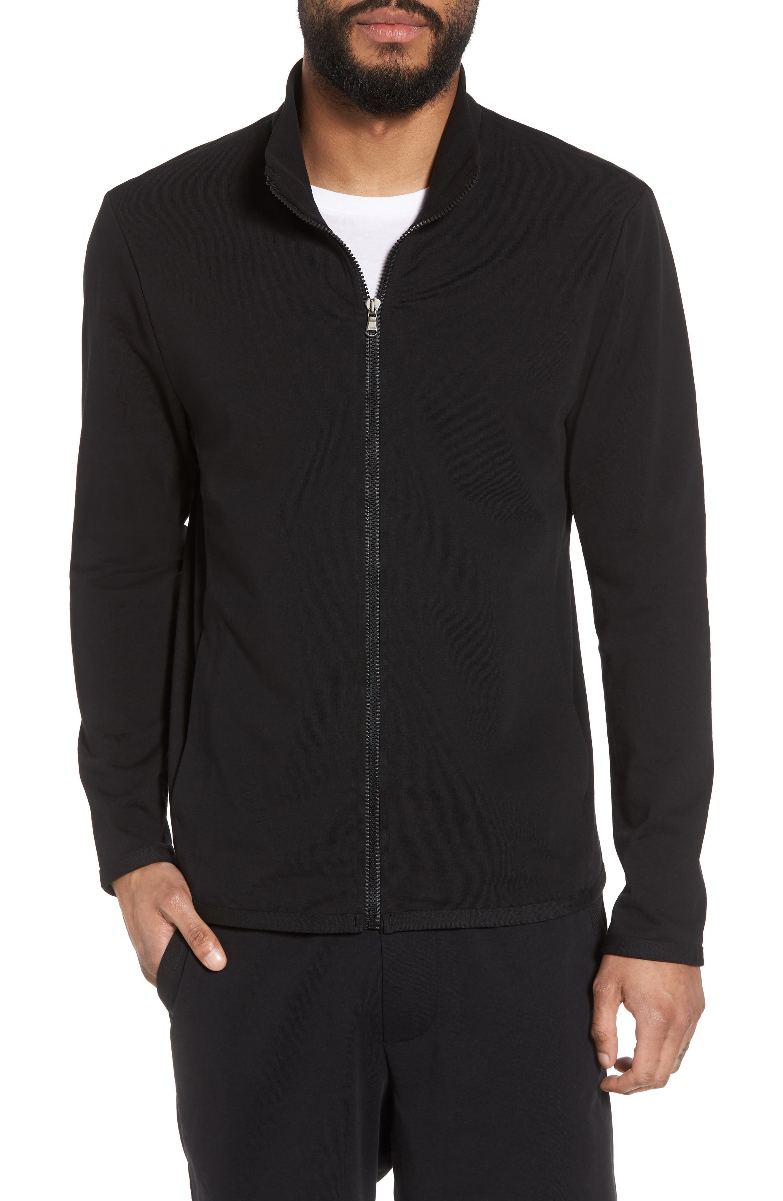 Slim Fit Compact Terry Zip Jacket,                             Main thumbnail 1, color,