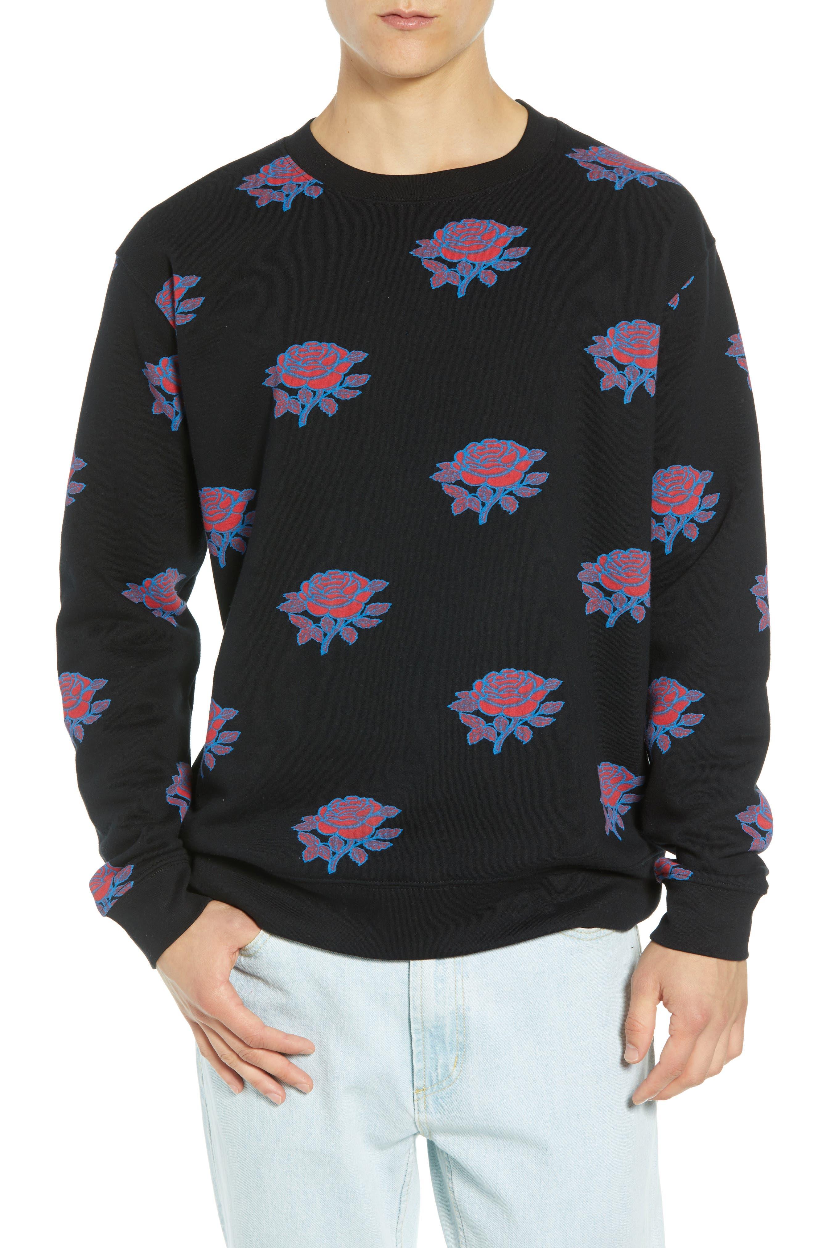 Thorns Crewneck Sweatshirt,                             Main thumbnail 1, color,                             BLACK