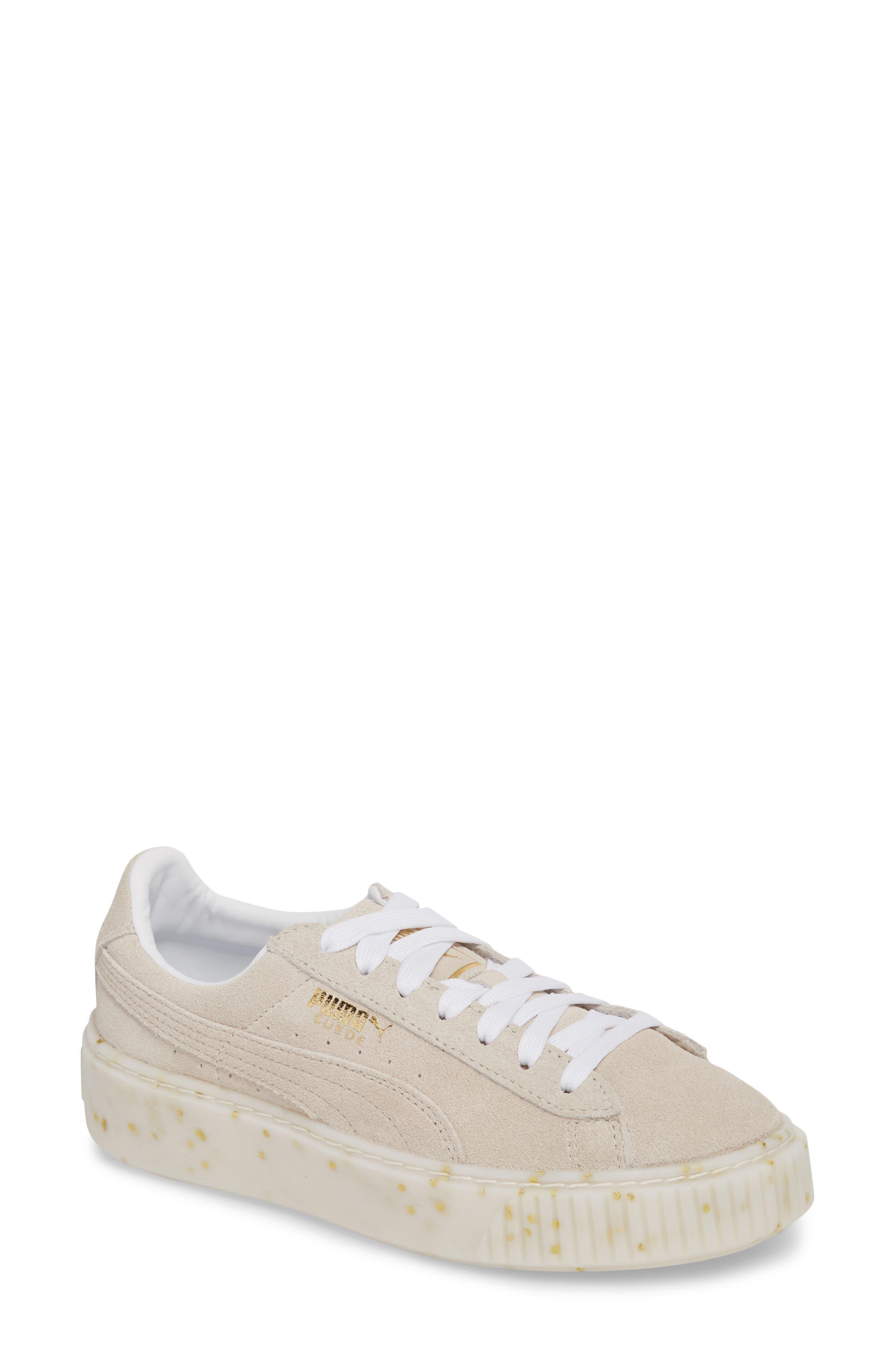 Suede Platform Sneaker,                             Main thumbnail 2, color,