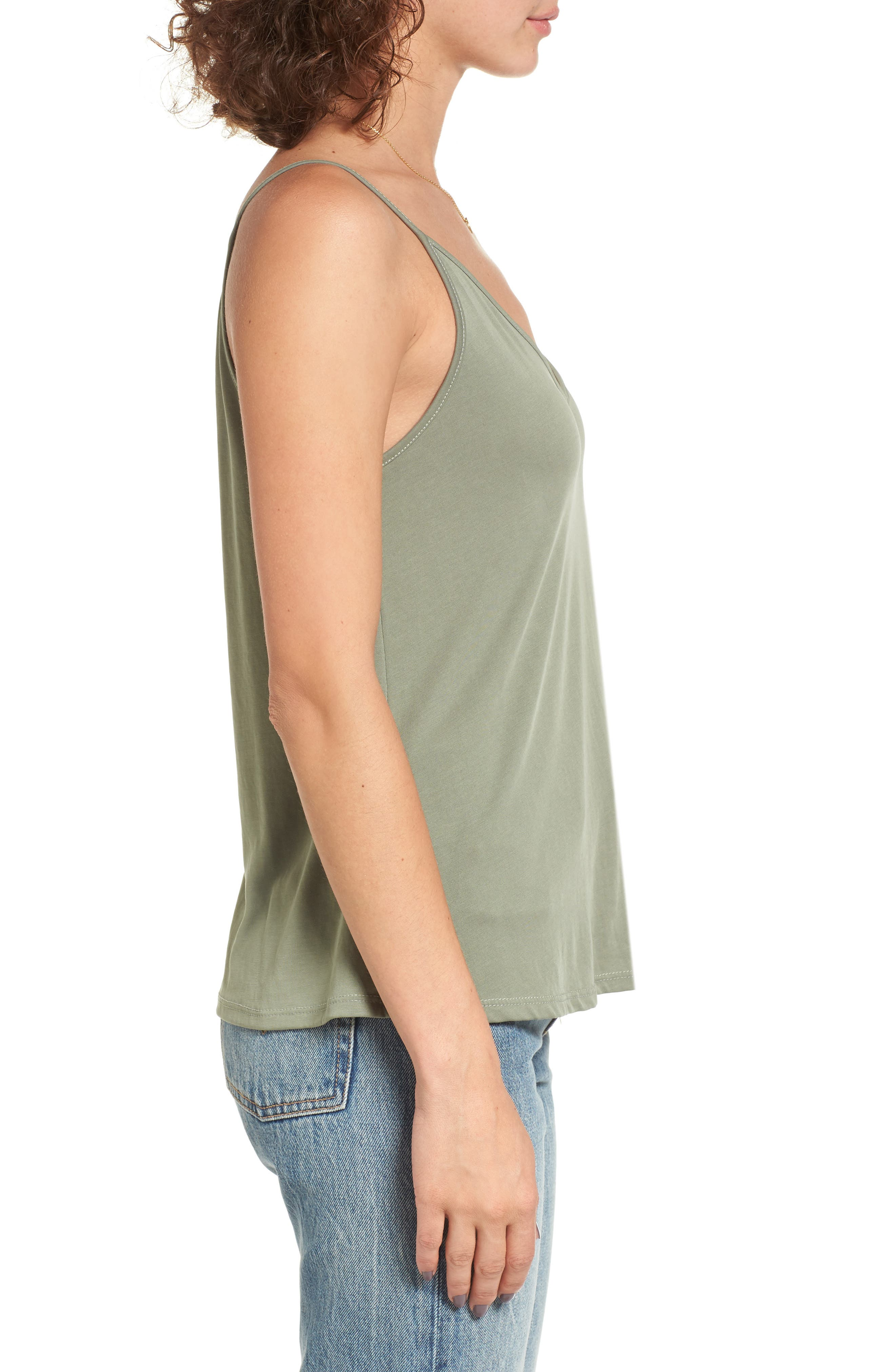 Double V Swing Camisole,                             Alternate thumbnail 4, color,                             OLIVE BURNT