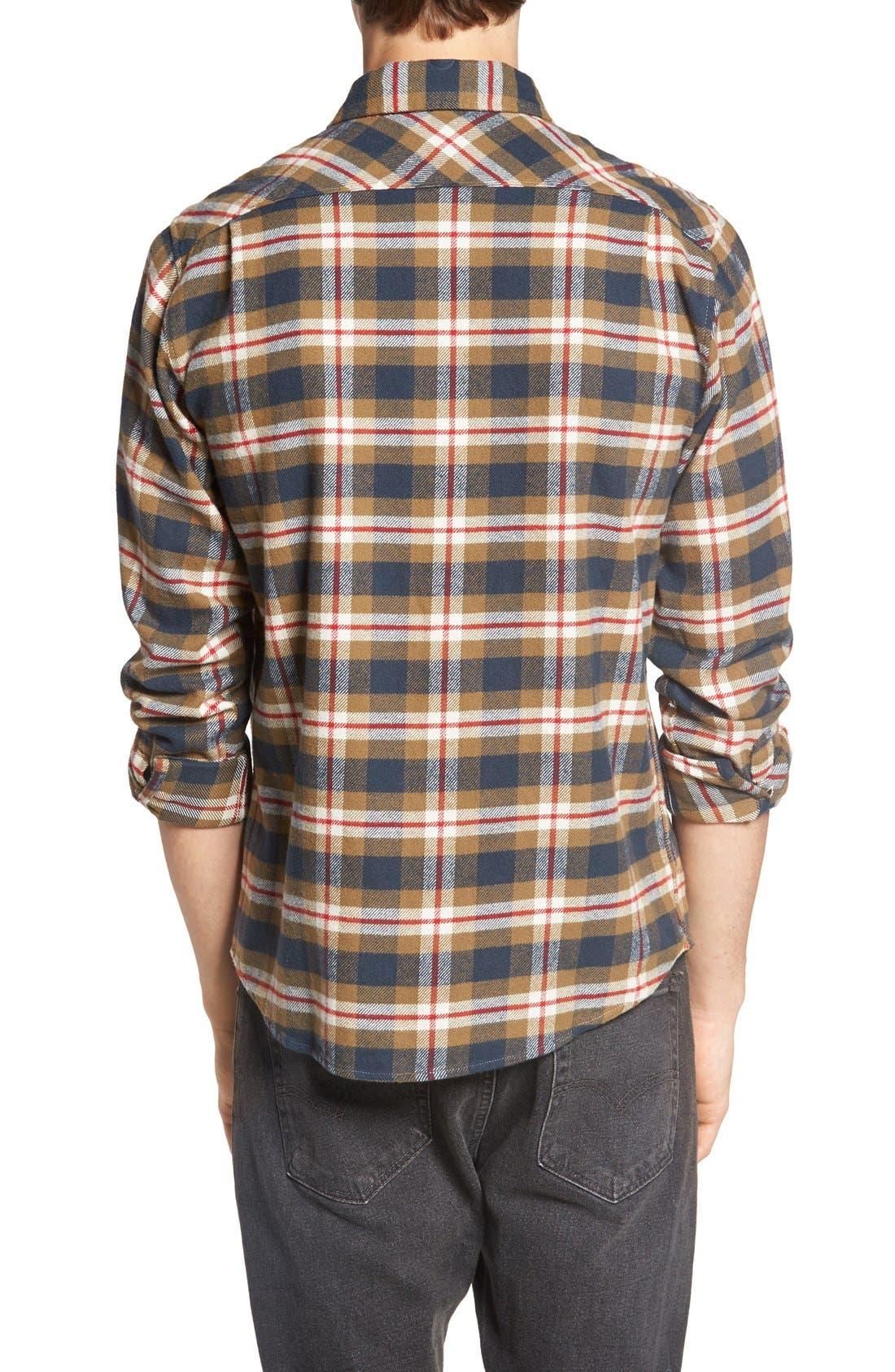 'That'll Work' Trim Fit Plaid Flannel Shirt,                             Alternate thumbnail 27, color,