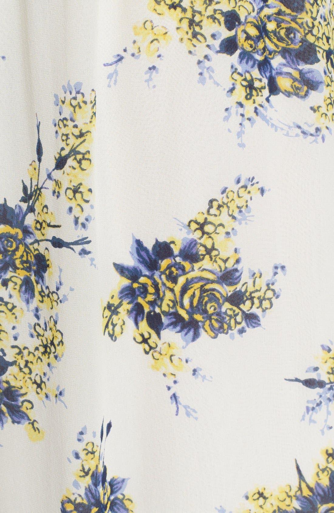 'Astilbe' Floral Print Silk Maxi Dress,                             Alternate thumbnail 5, color,                             901