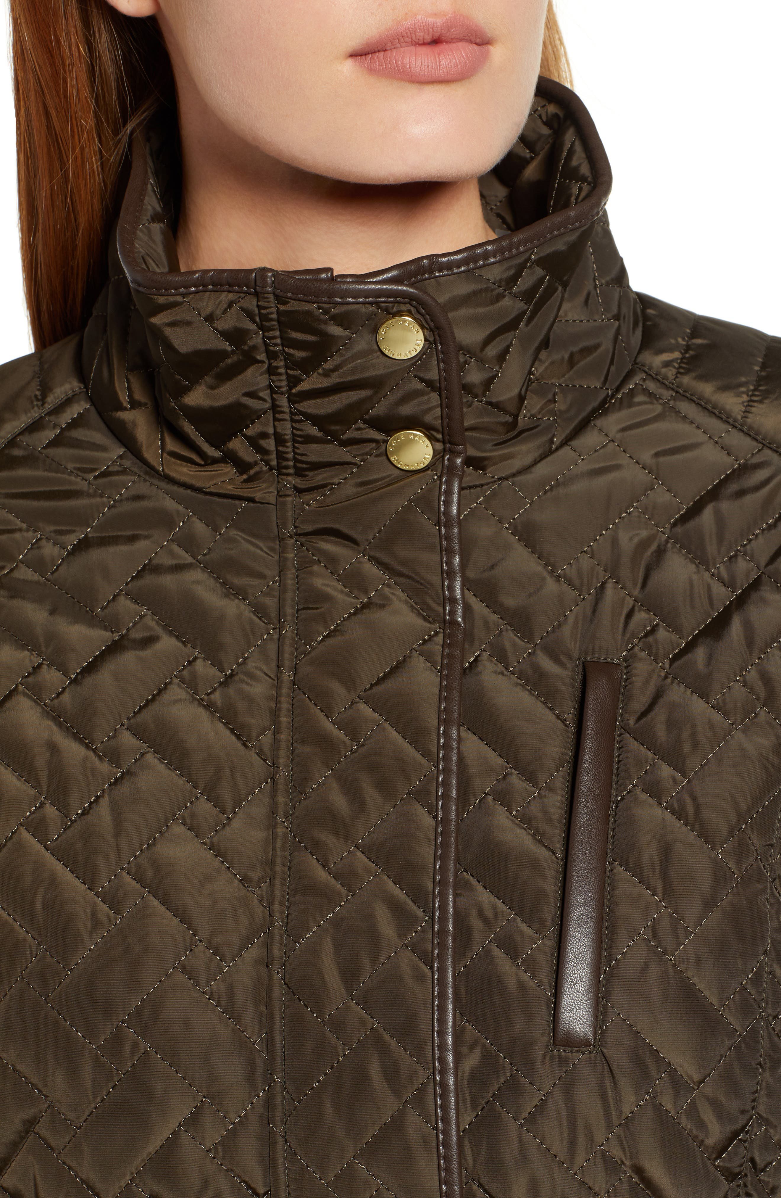 Belted Quilted Coat,                             Alternate thumbnail 21, color,