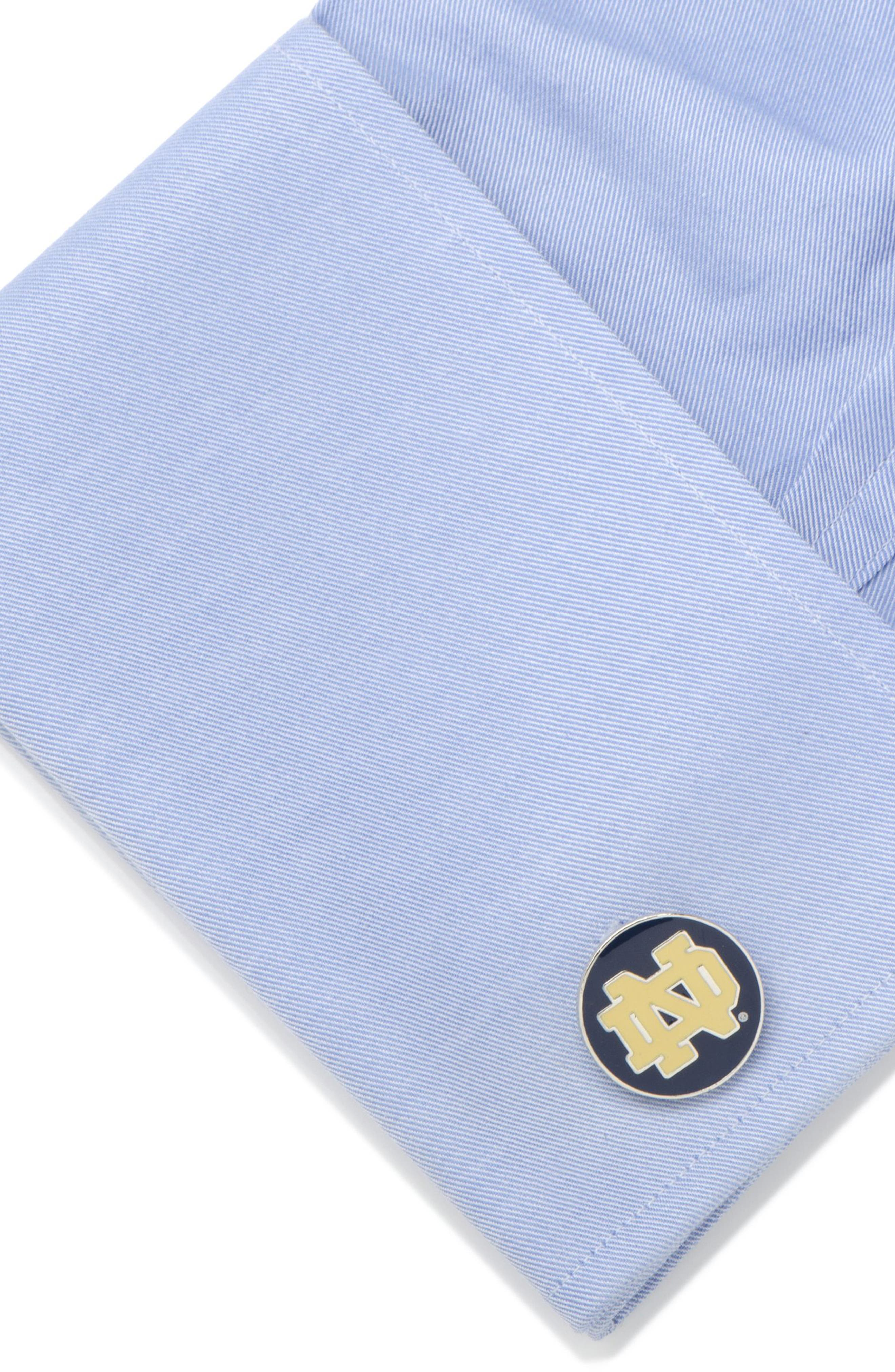 Notre Dame Cuff Links,                             Alternate thumbnail 3, color,                             NAVY
