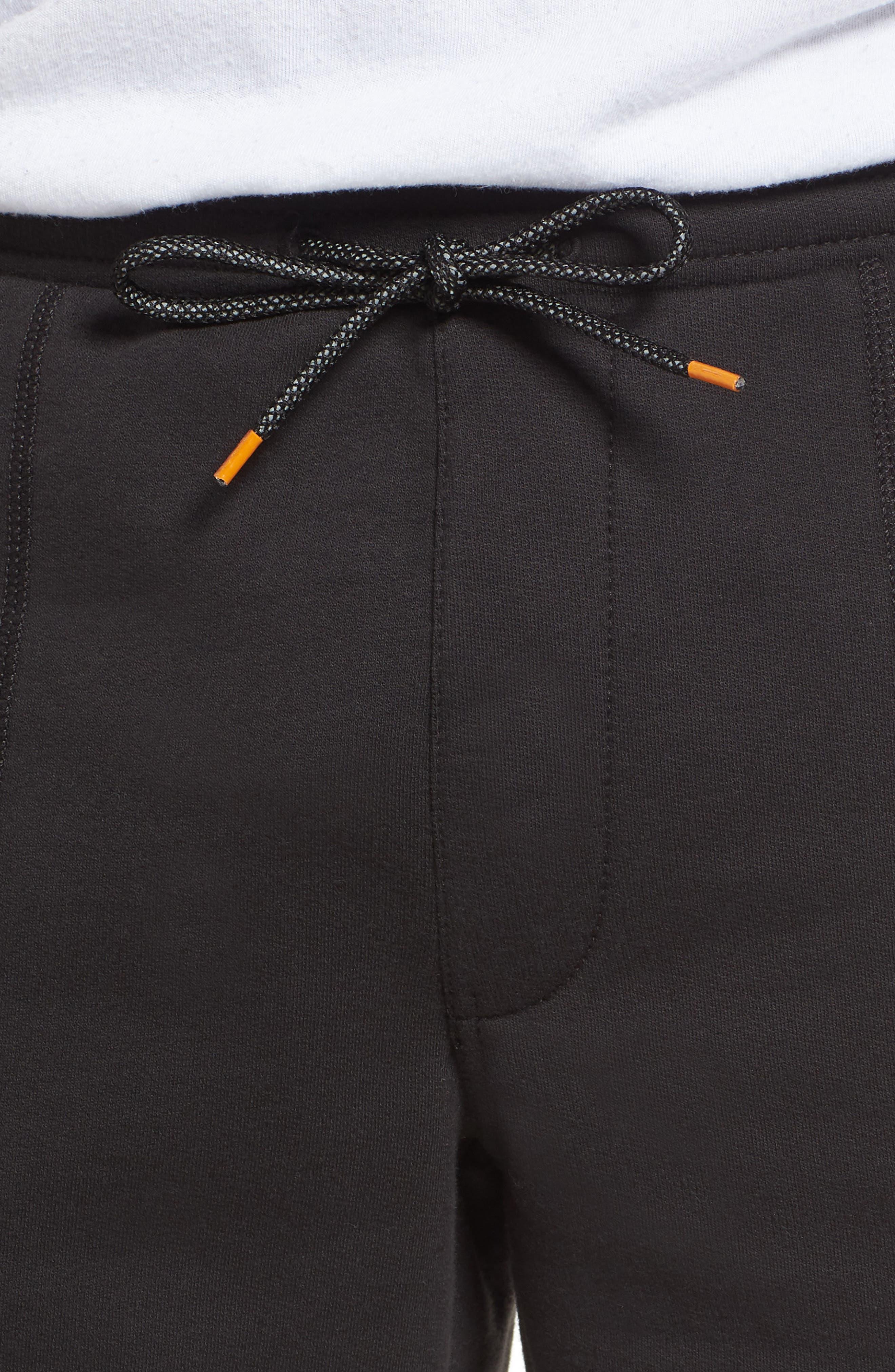 Logo Jogger Shorts,                             Alternate thumbnail 4, color,                             BLACK LINEAR