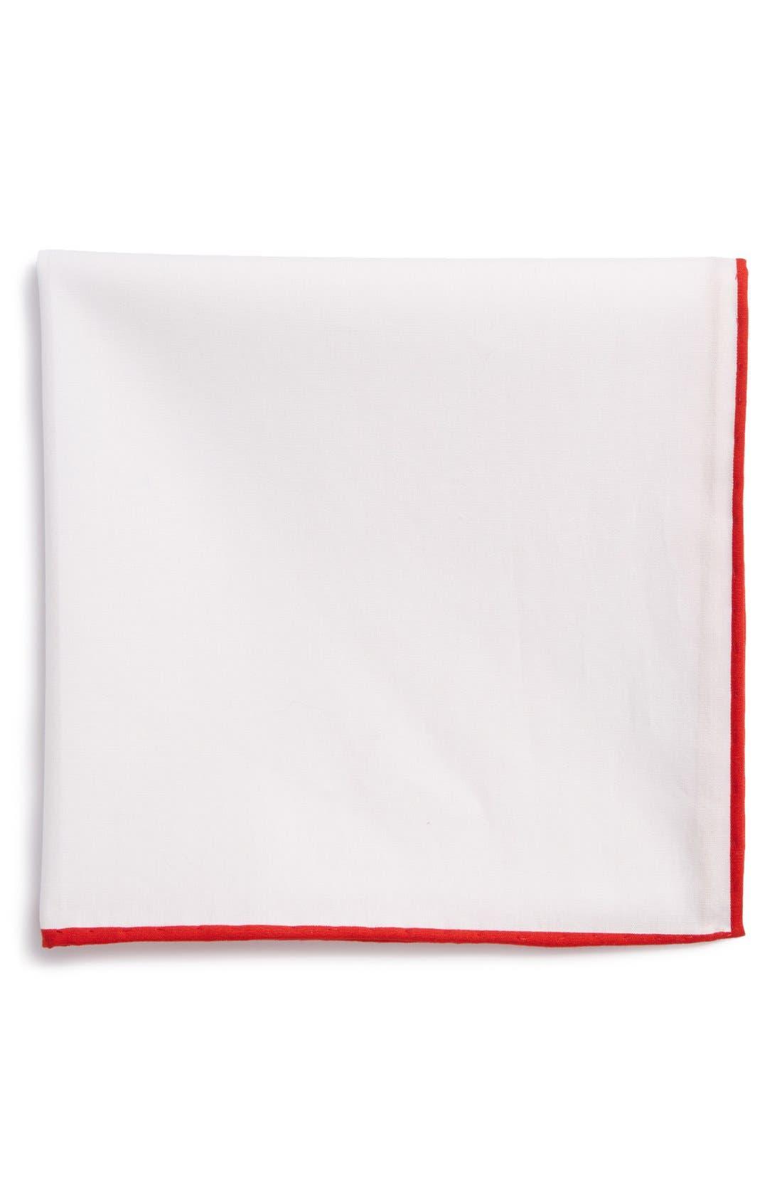 Cotton Solid Pocket Square,                             Main thumbnail 5, color,