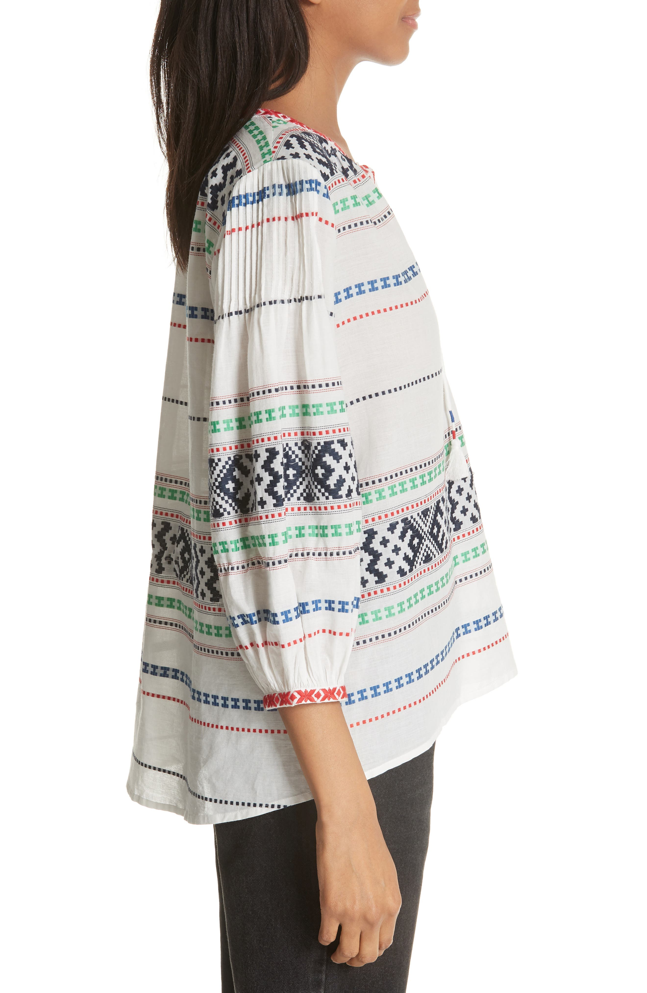 Jenollina Embroidered Top,                             Alternate thumbnail 3, color,                             114