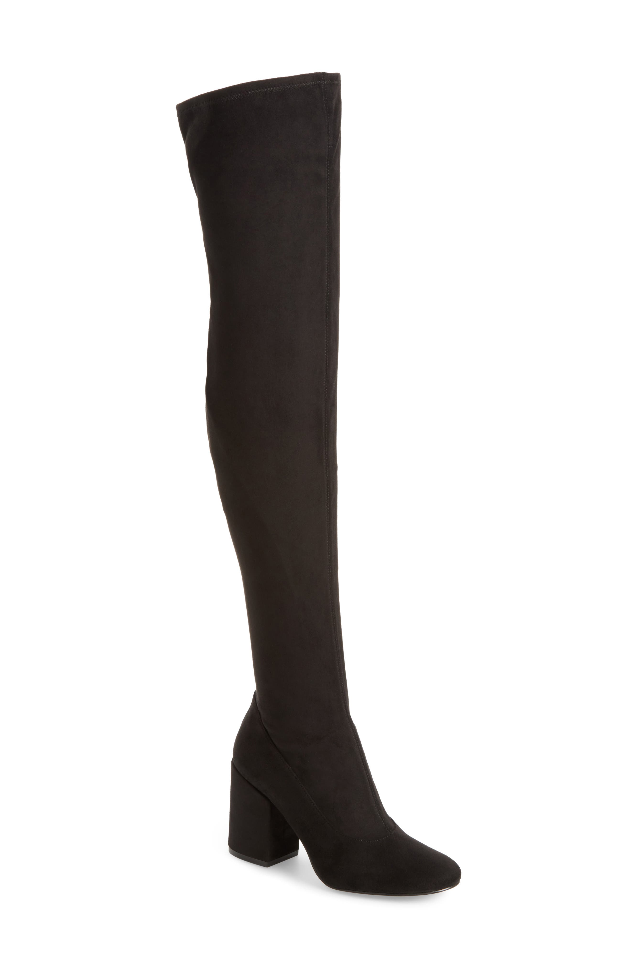 Praye Over the Knee Boot,                             Main thumbnail 1, color,                             001