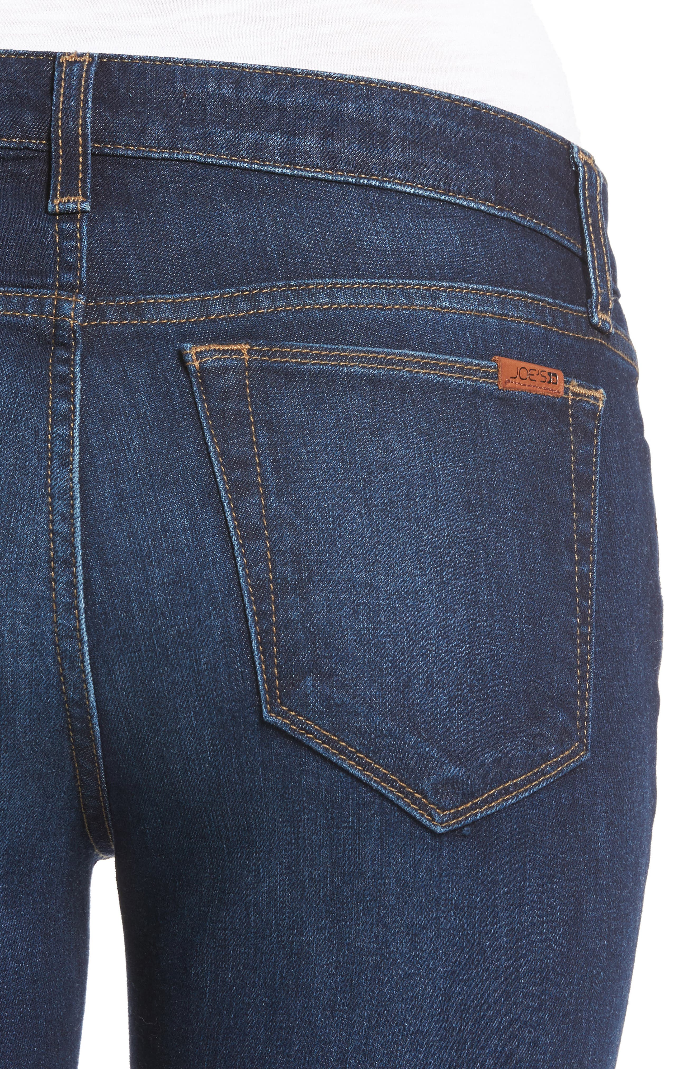 Icon Ankle Raw Hem Skinny Jeans,                             Alternate thumbnail 4, color,                             400