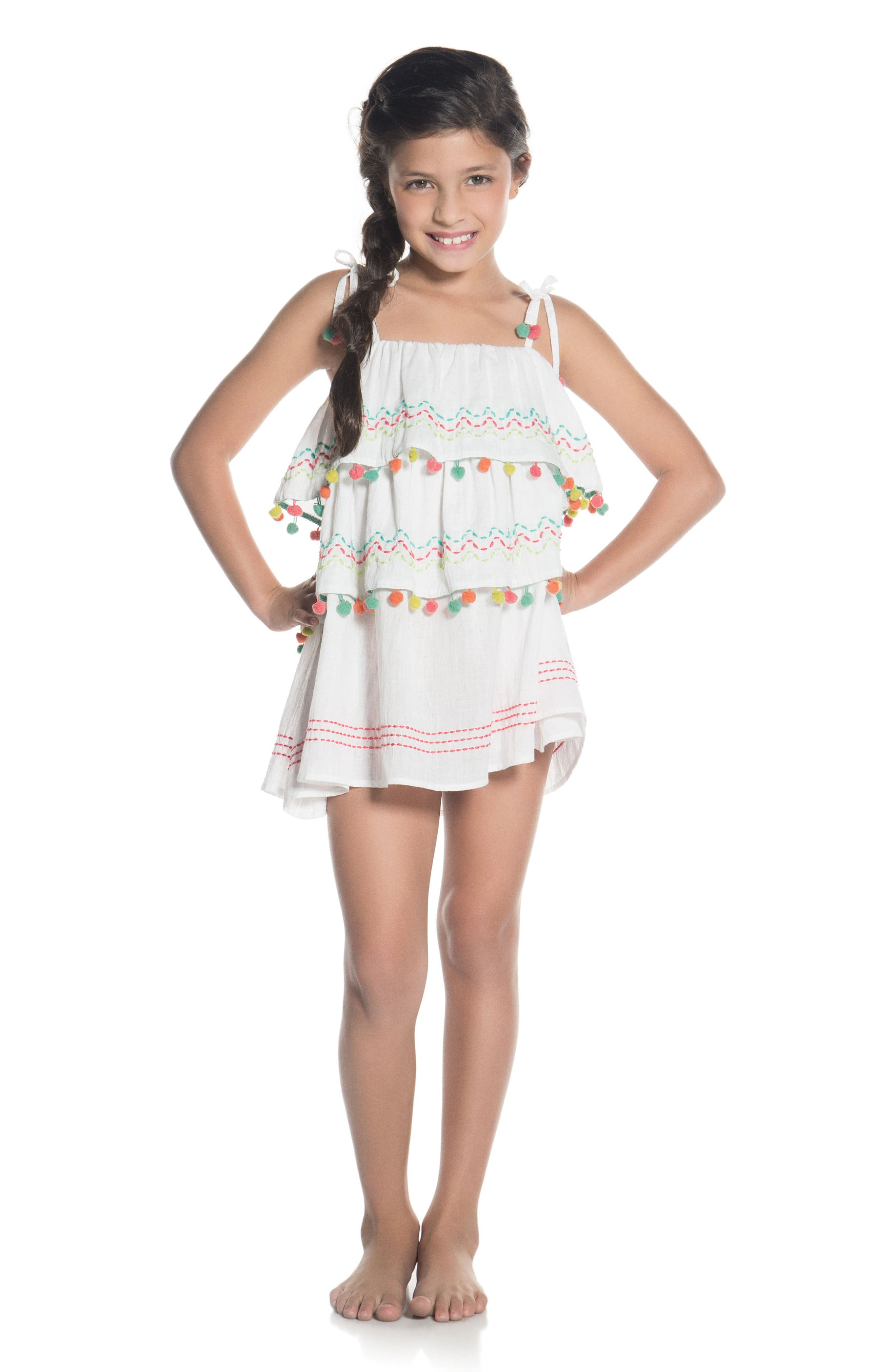 Amazonia Cover-Up Dress,                             Alternate thumbnail 3, color,                             102