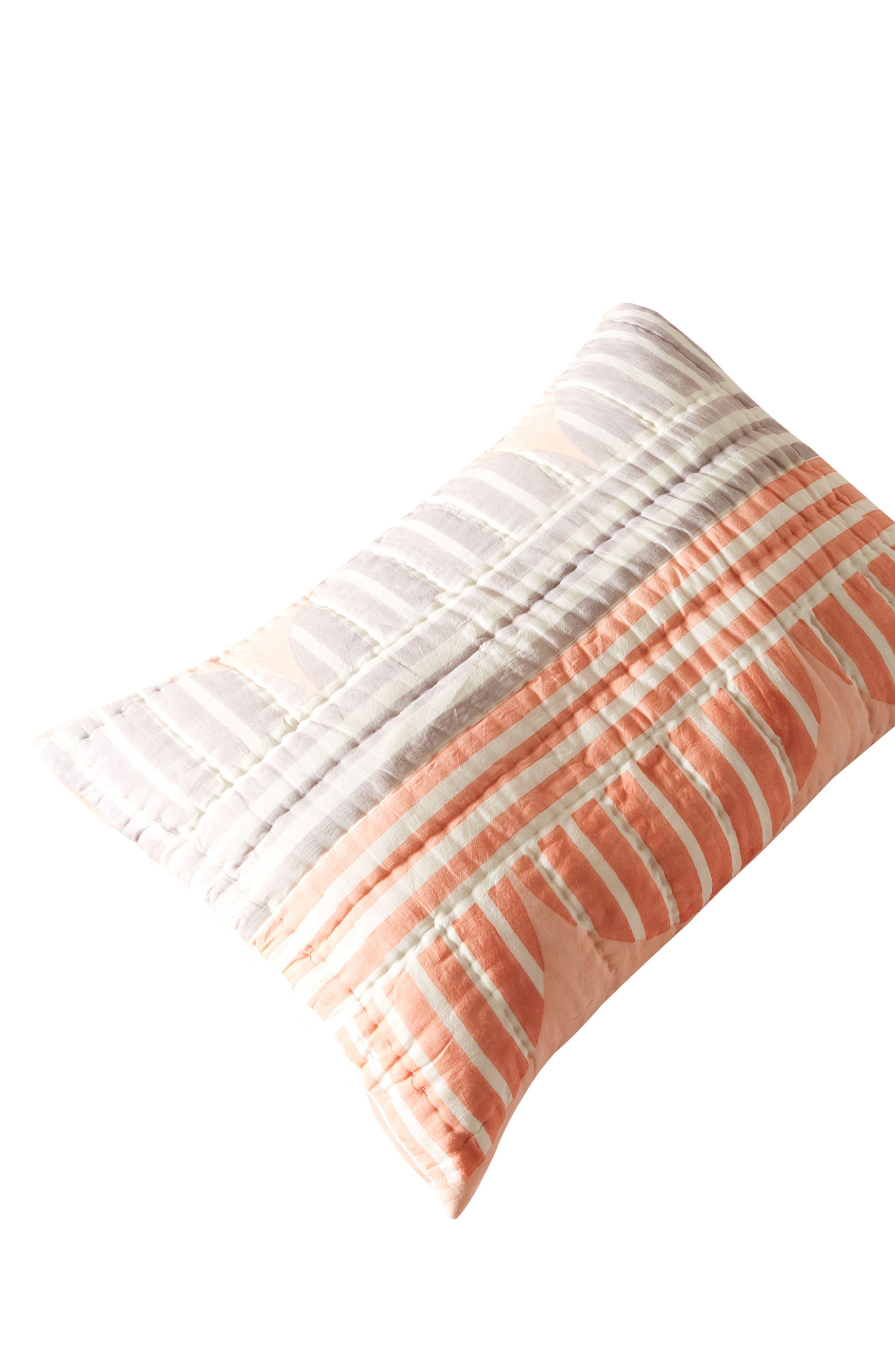 Stripe Geo Pillow Shams,                             Alternate thumbnail 2, color,                             650