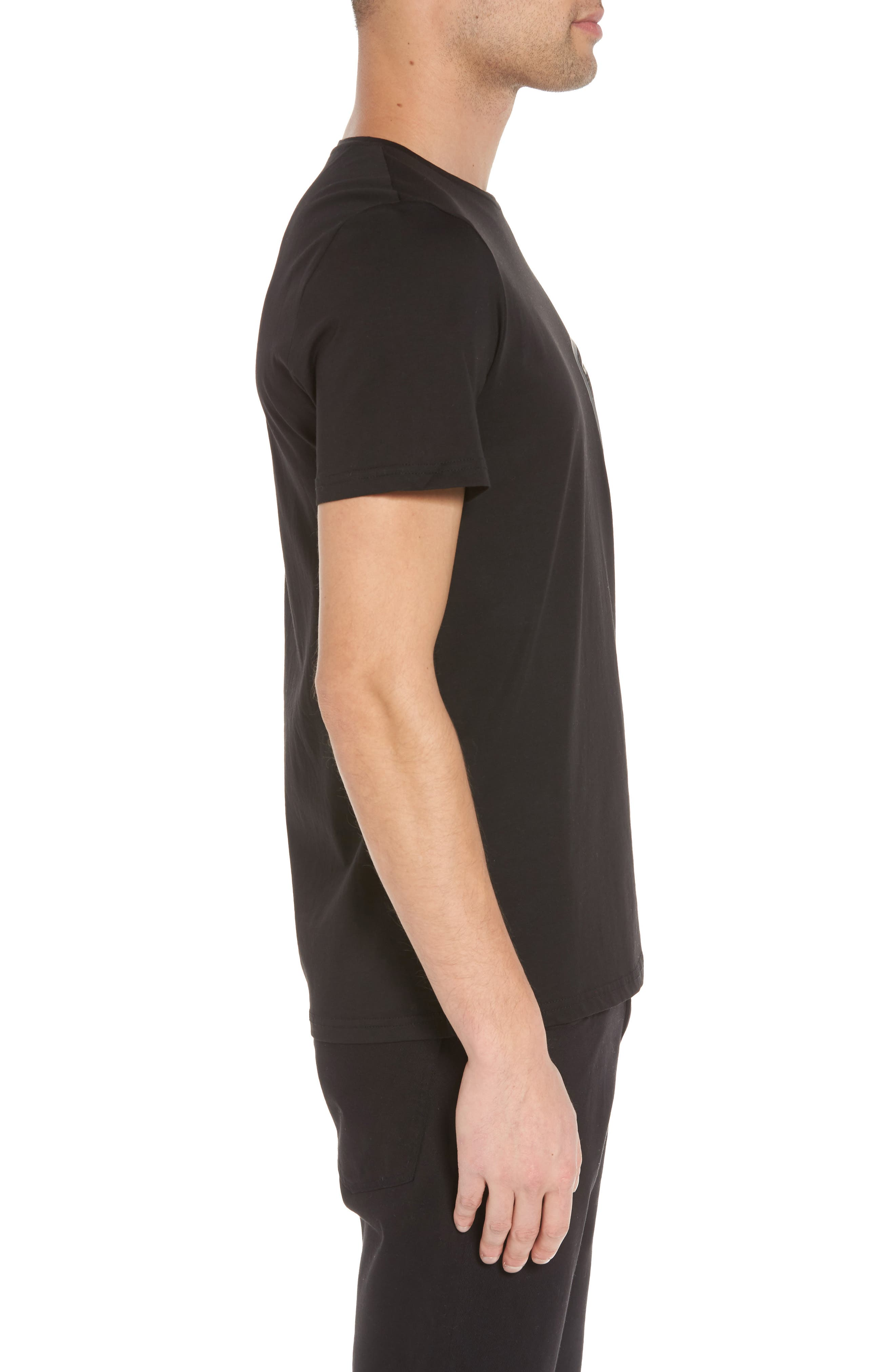 Mesh Pocket T-Shirt,                             Alternate thumbnail 3, color,                             001