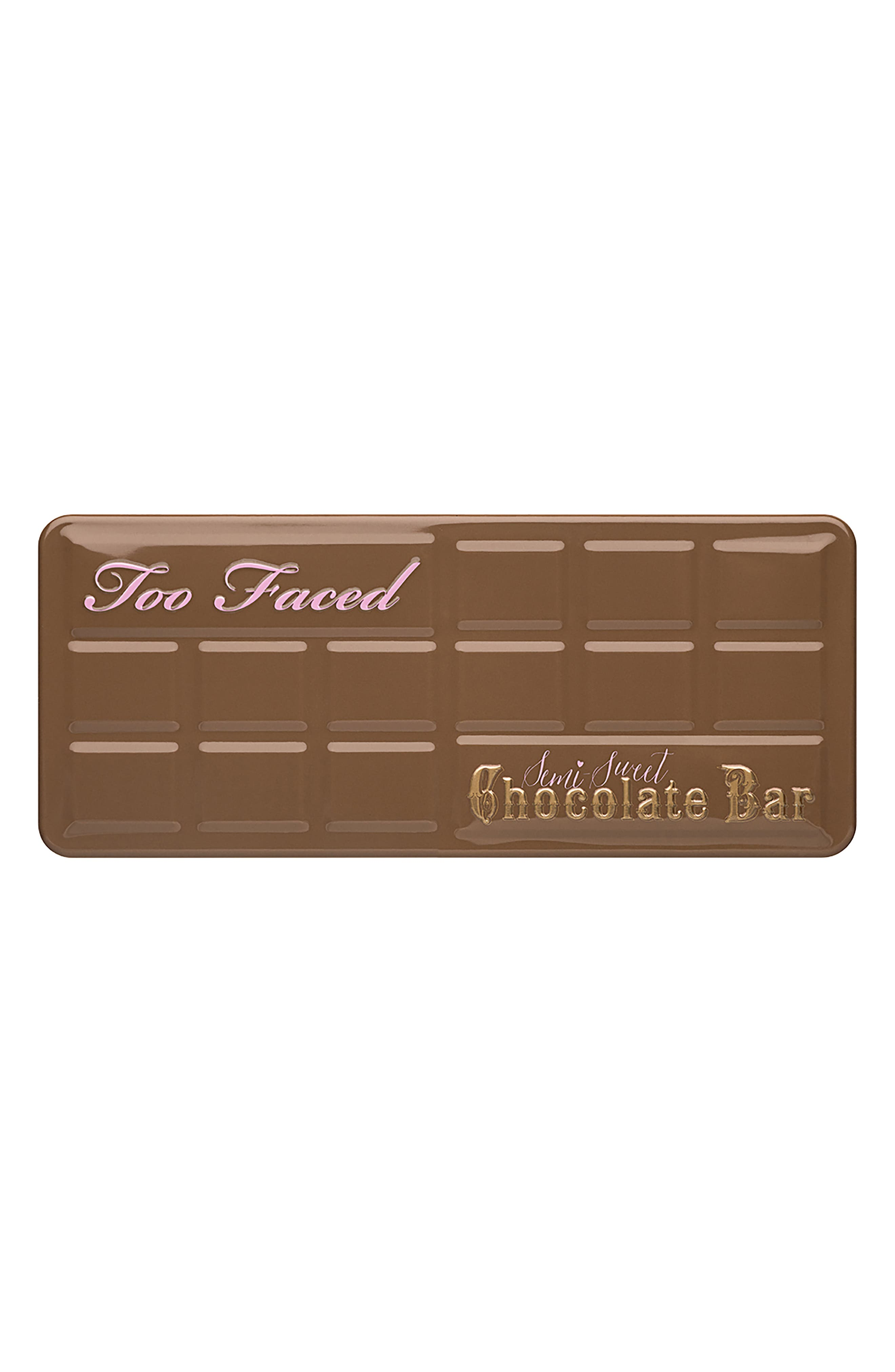 TOO FACED,                             Semi-Sweet Chocolate Bar Eyeshadow Palette,                             Alternate thumbnail 4, color,                             NO COLOR