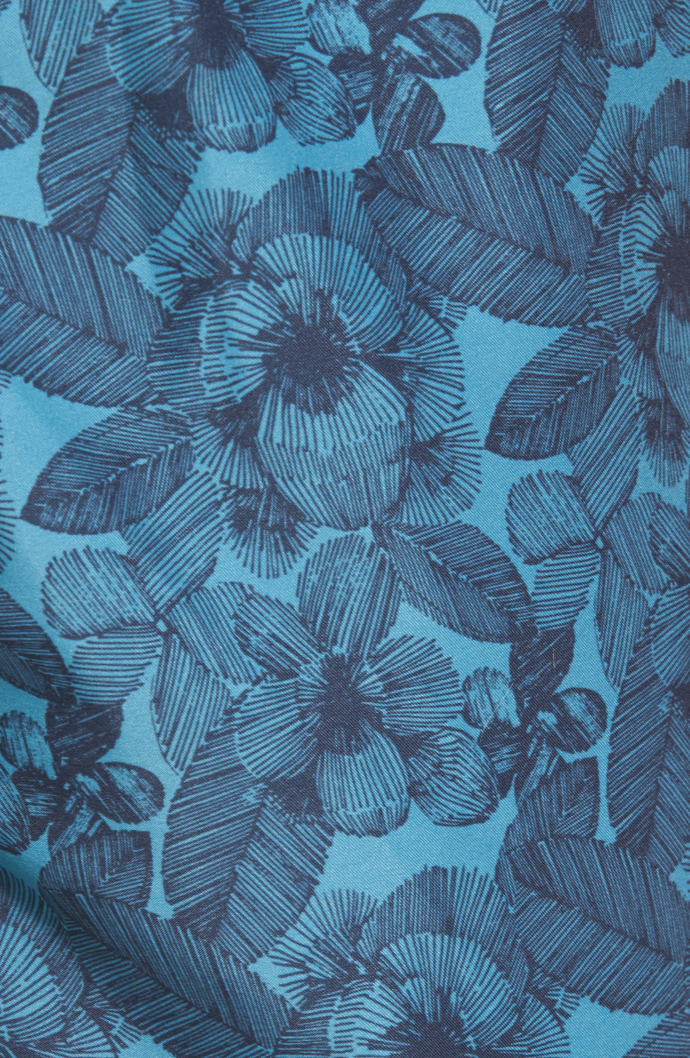 Leaf Swim Trunks,                             Alternate thumbnail 5, color,                             489
