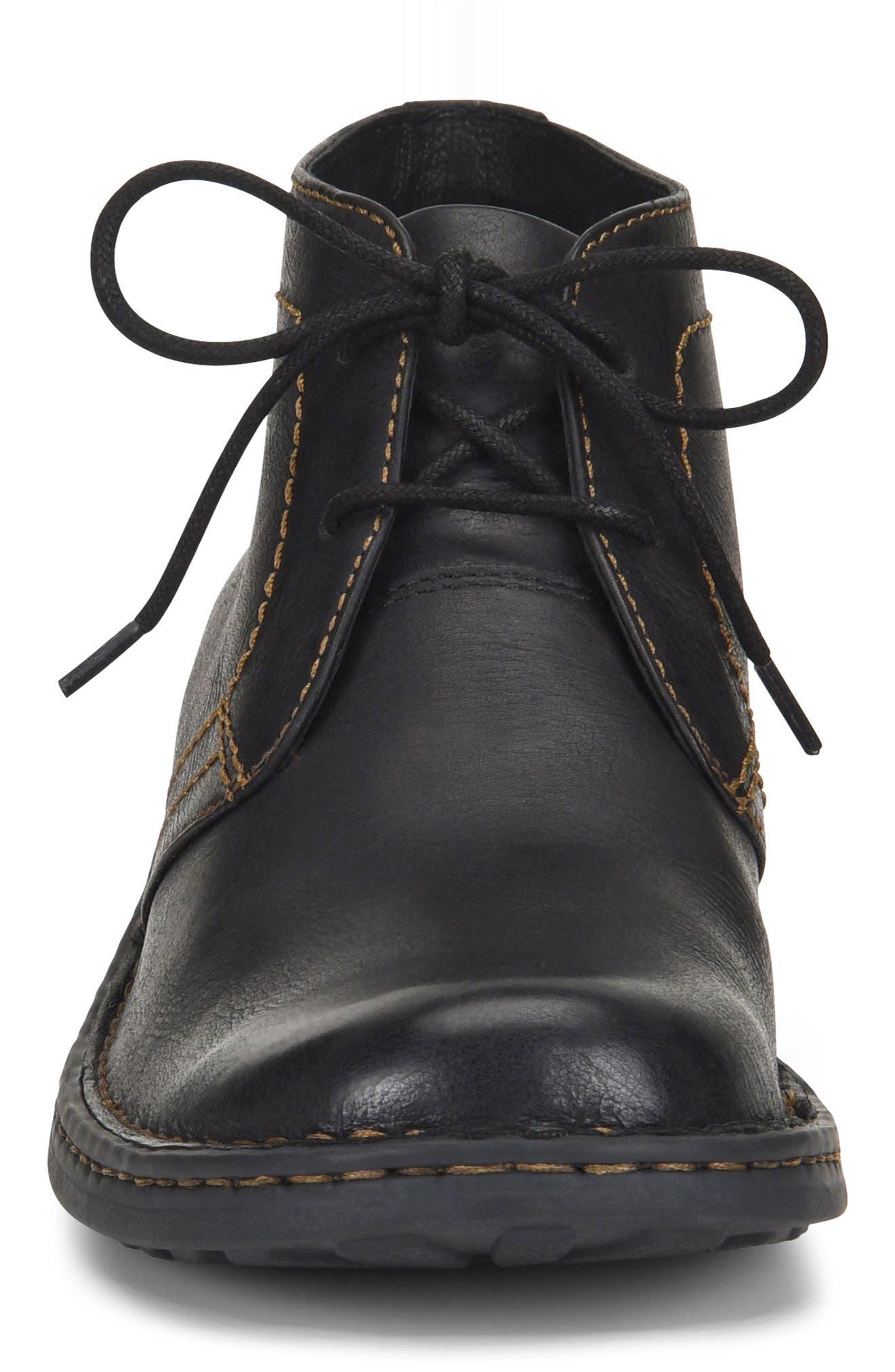 'Harrison' Chukka Boot,                             Alternate thumbnail 4, color,                             BLACK LEATHER