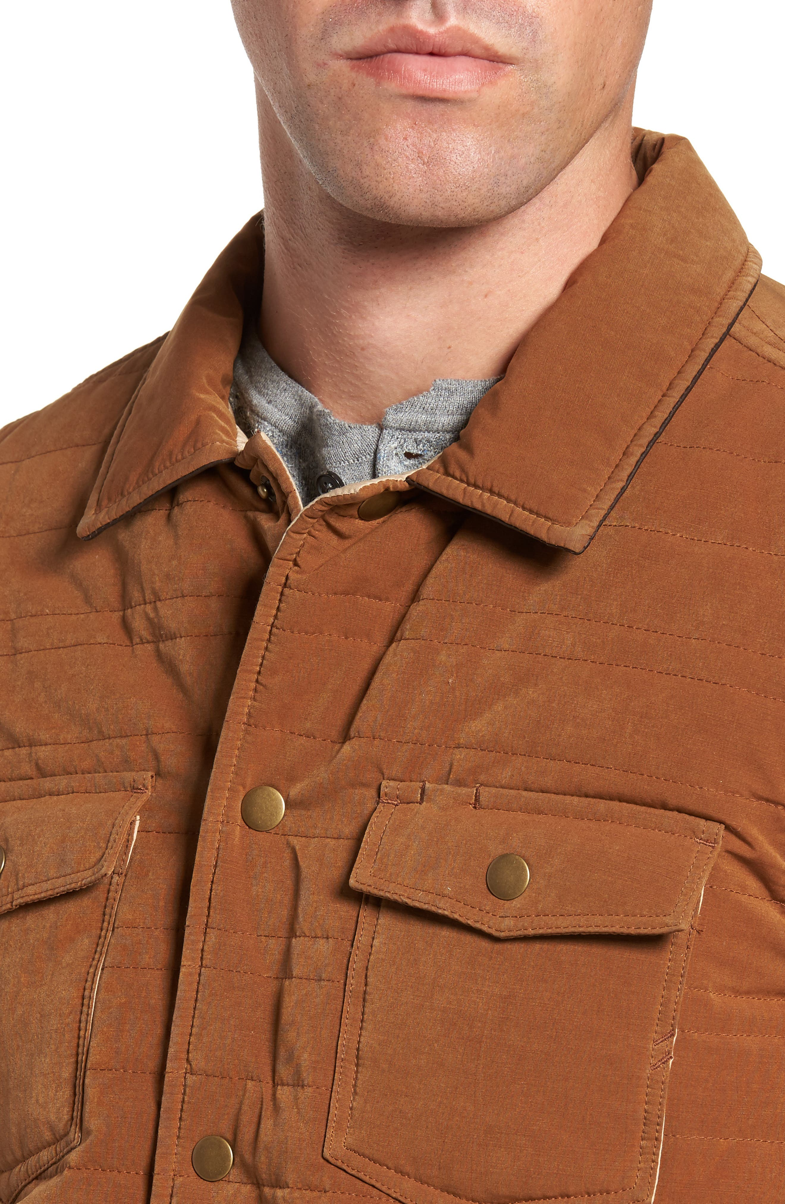 Michael Slim Fit Quilted Shirt Jacket,                             Alternate thumbnail 8, color,