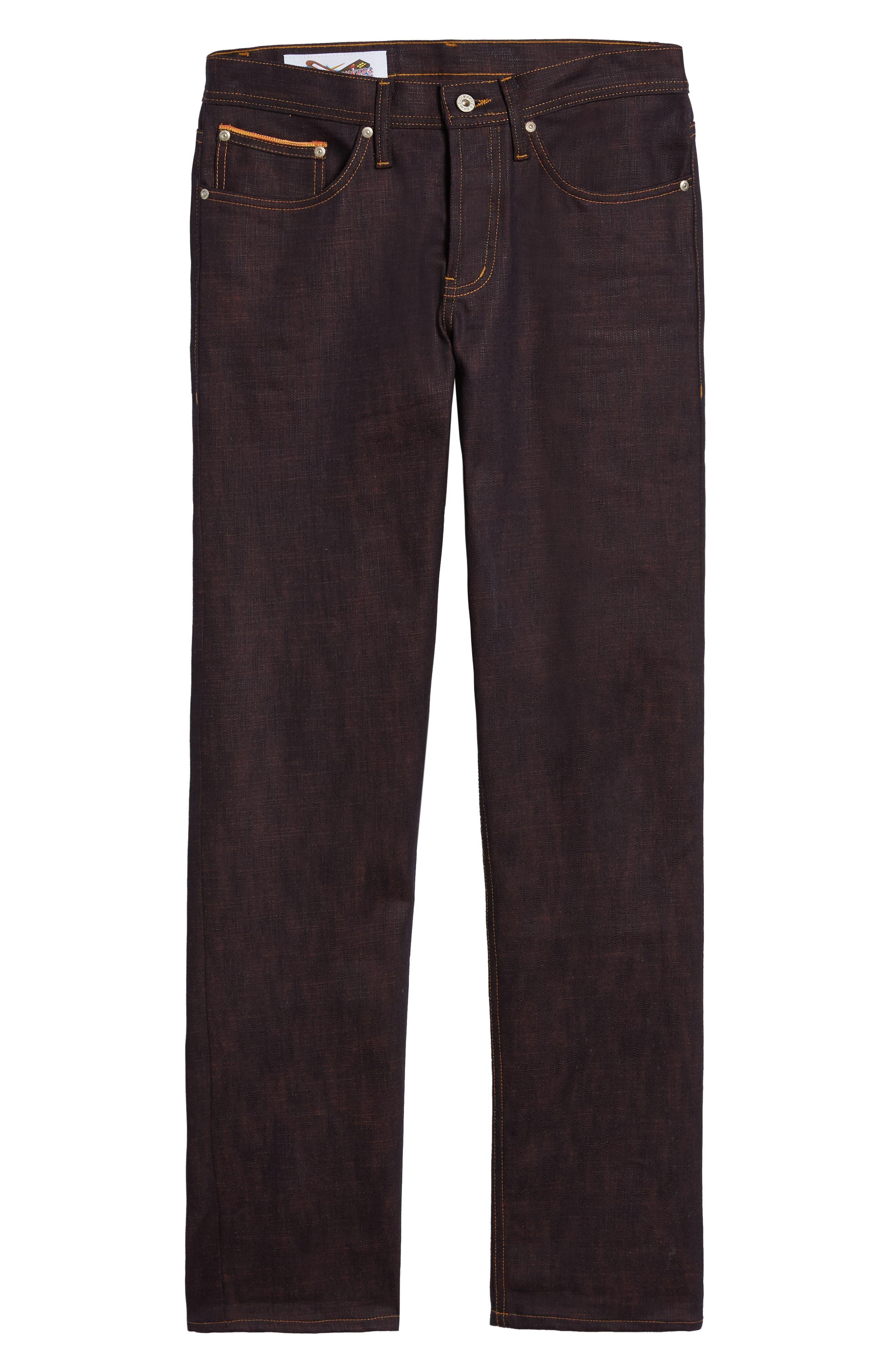 Weird Guy Slim Fit Jeans,                             Alternate thumbnail 6, color,                             KEN SHORYUKEN SELVEDGE
