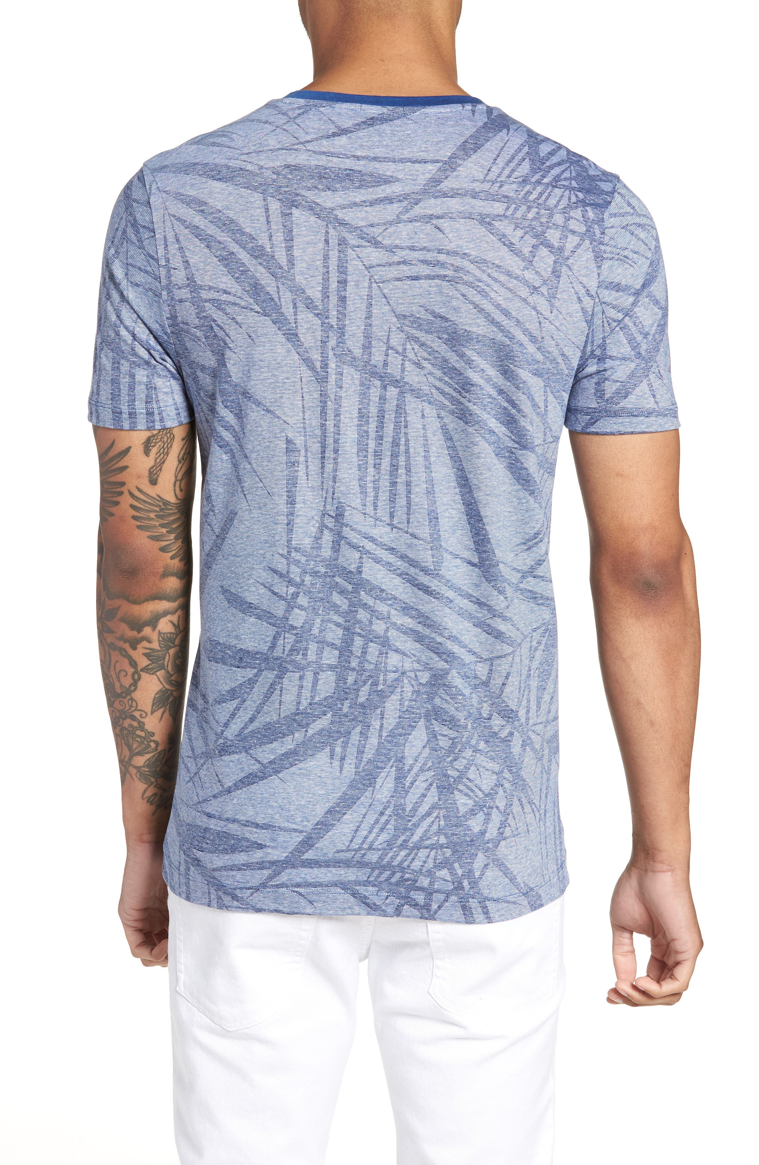 Tessler Slim Fit Palm Print T-Shirt,                             Alternate thumbnail 2, color,                             429