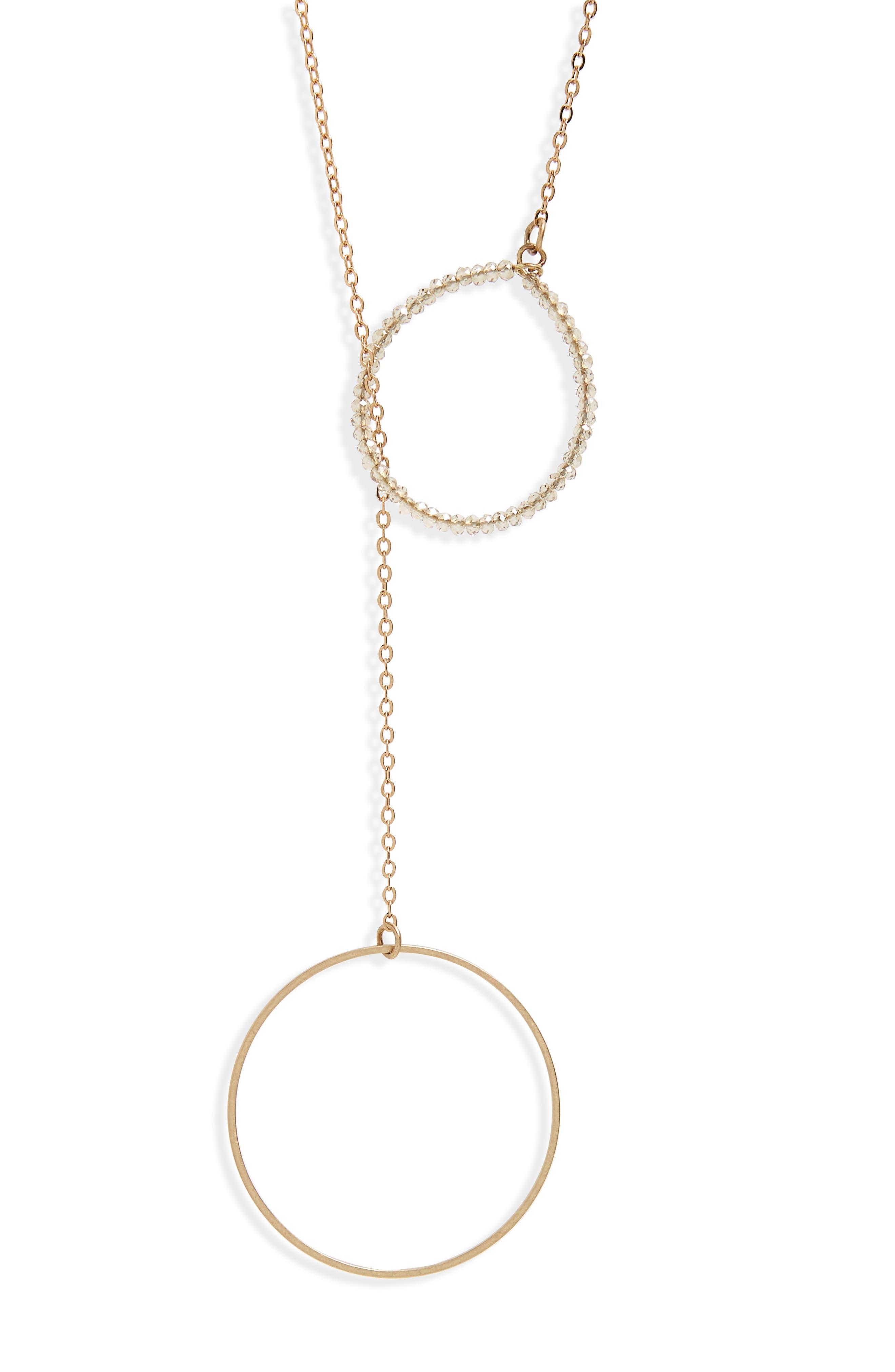 Double Circle Lariat Necklace,                             Alternate thumbnail 2, color,                             710