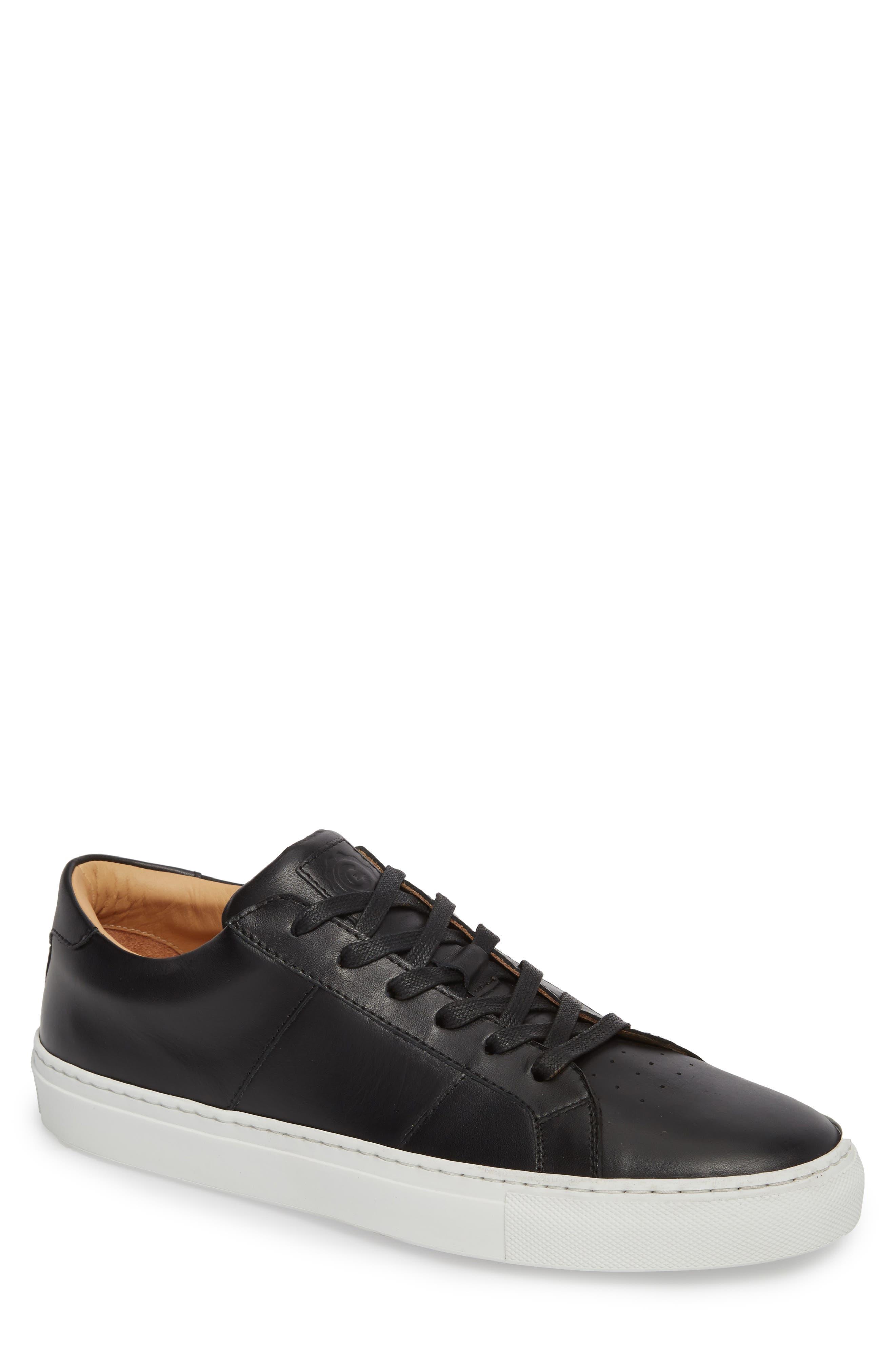 Royale Sneaker,                             Main thumbnail 1, color,                             BLACK LEATHER