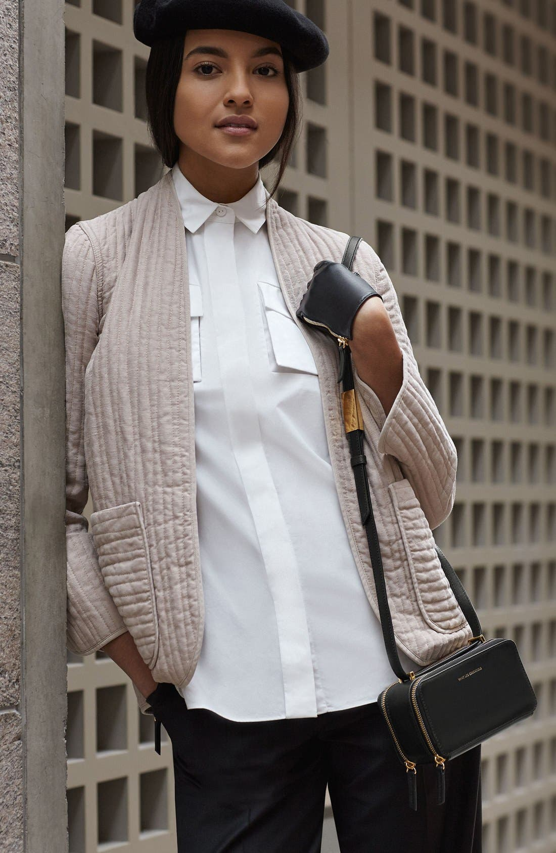 WANT LES ESSENTIELS,                             'Demiranda' Leather Shoulder Bag,                             Alternate thumbnail 2, color,                             001