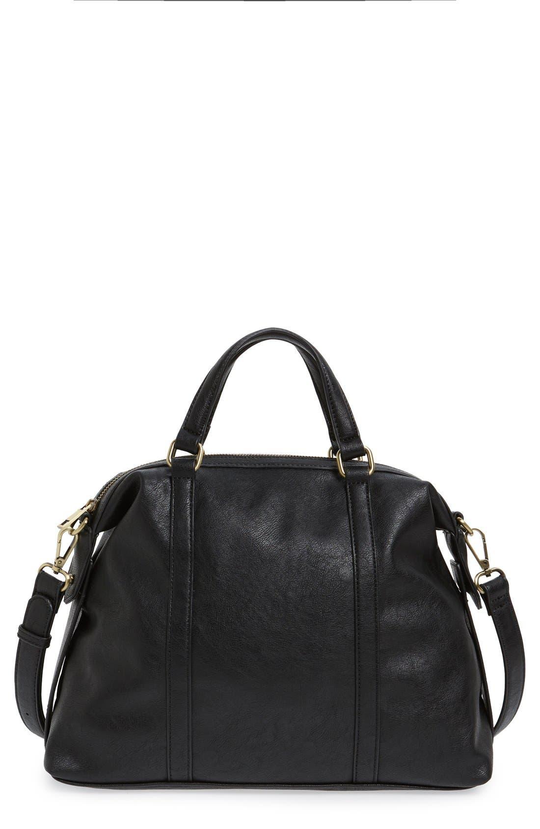 'Oliva' Faux Leather Satchel,                         Main,                         color,