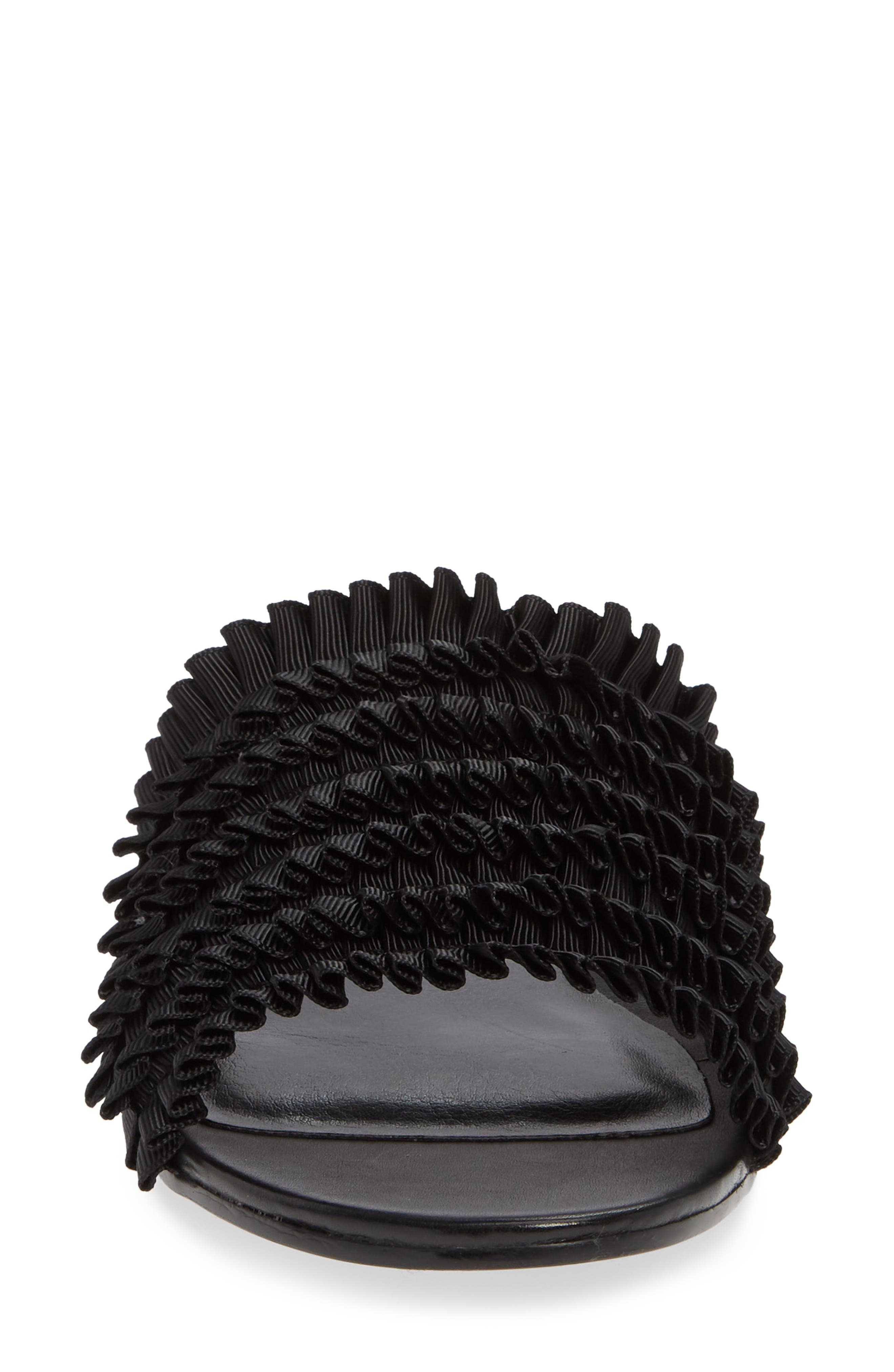 Jerzy Slide Sandal,                             Alternate thumbnail 4, color,                             BLACK FABRIC