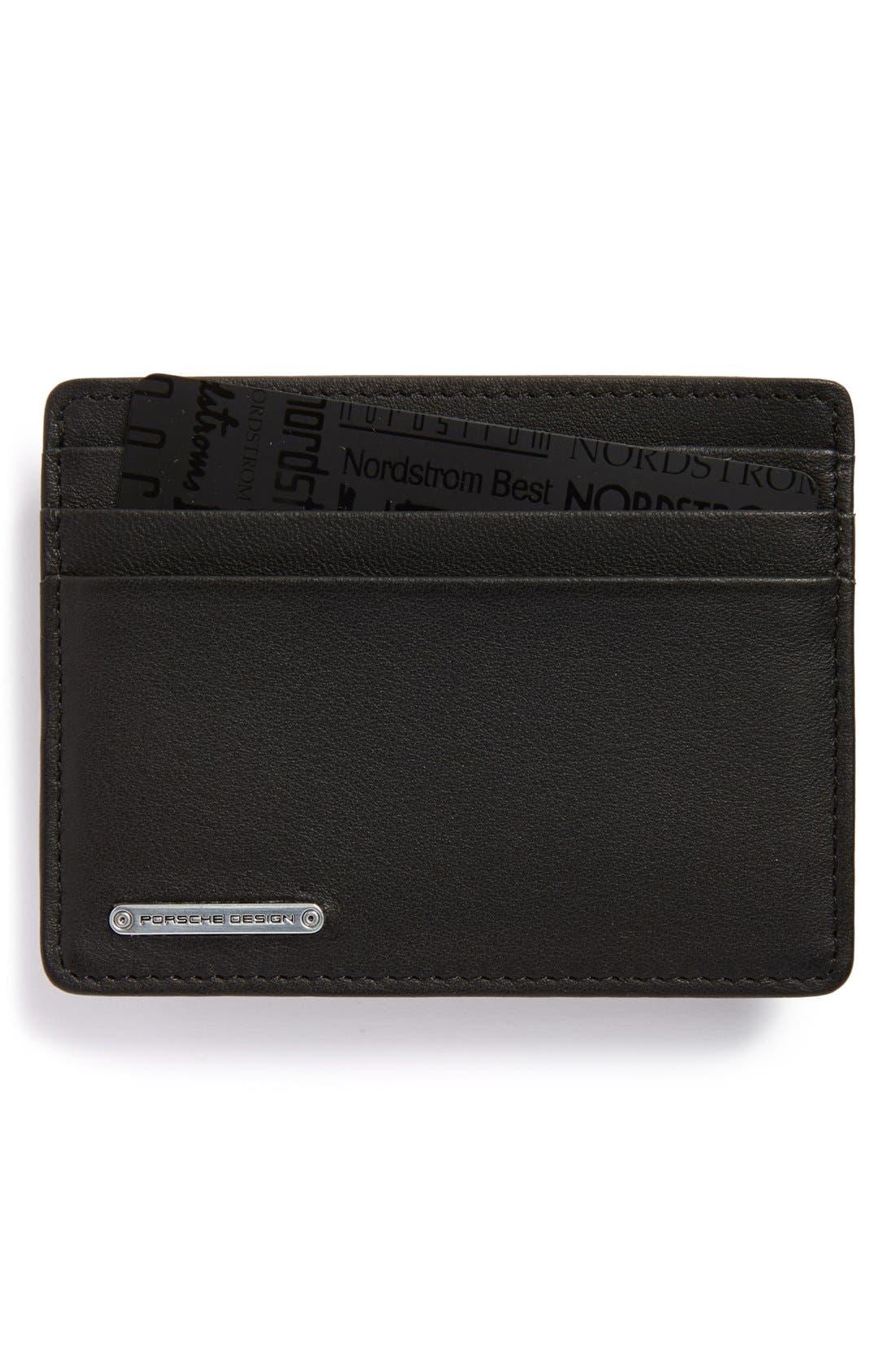Leather Cardholder,                         Main,                         color, 001