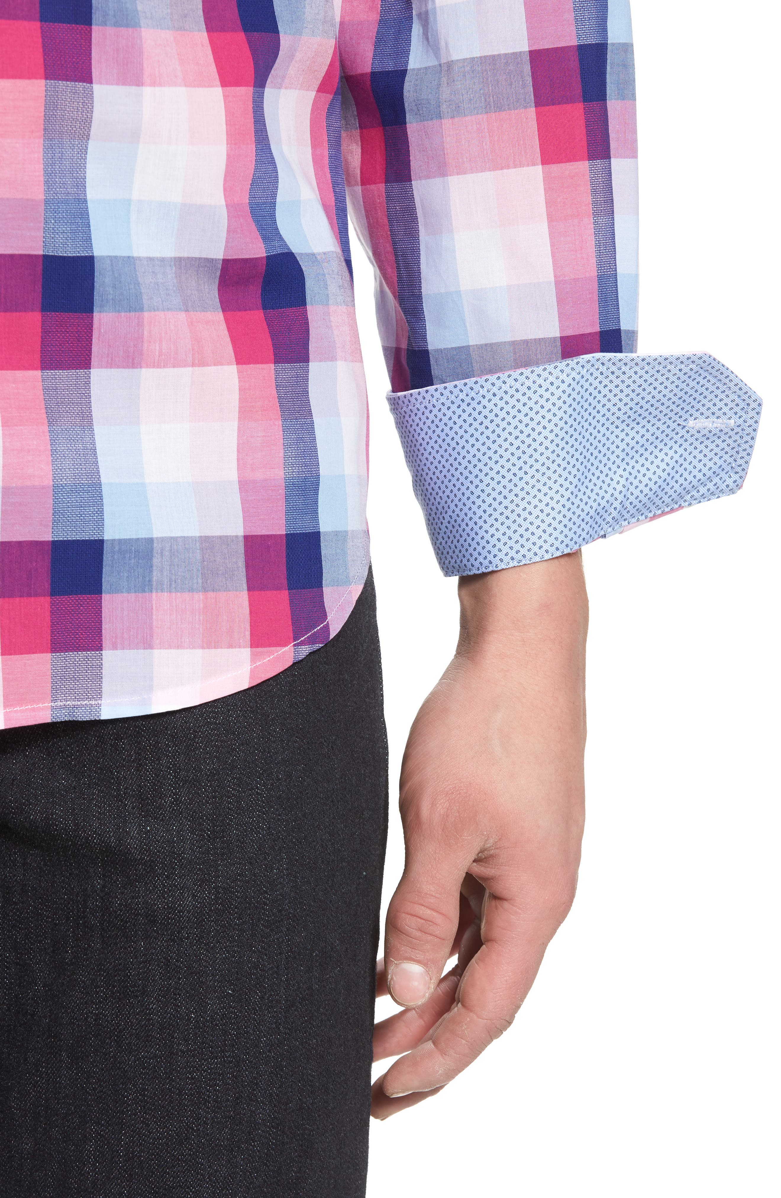 Classic Fit Woven Sport Shirt,                             Alternate thumbnail 4, color,                             660
