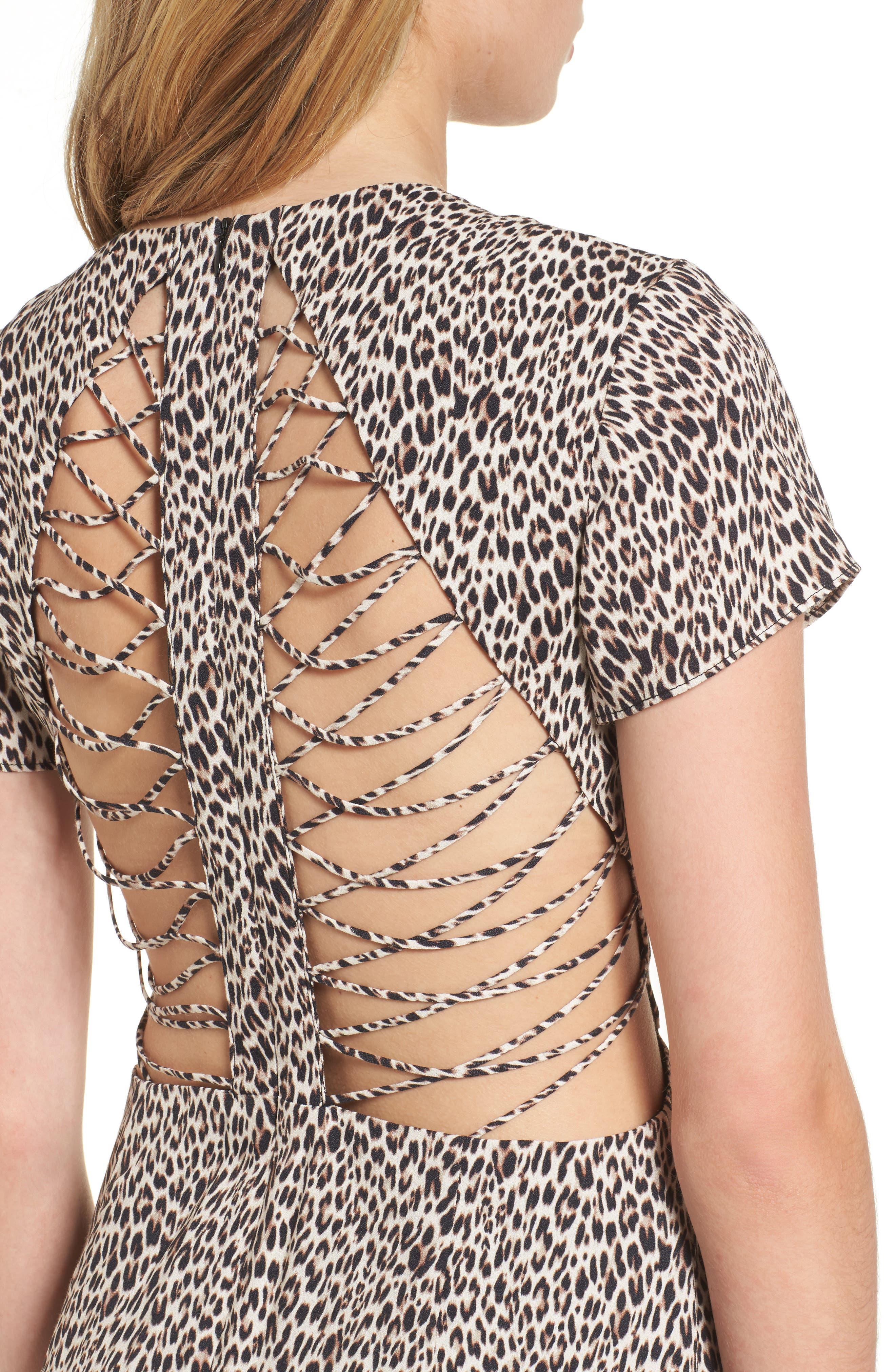 Chelsea Lattice Back Fit & Flare Dress,                             Alternate thumbnail 15, color,