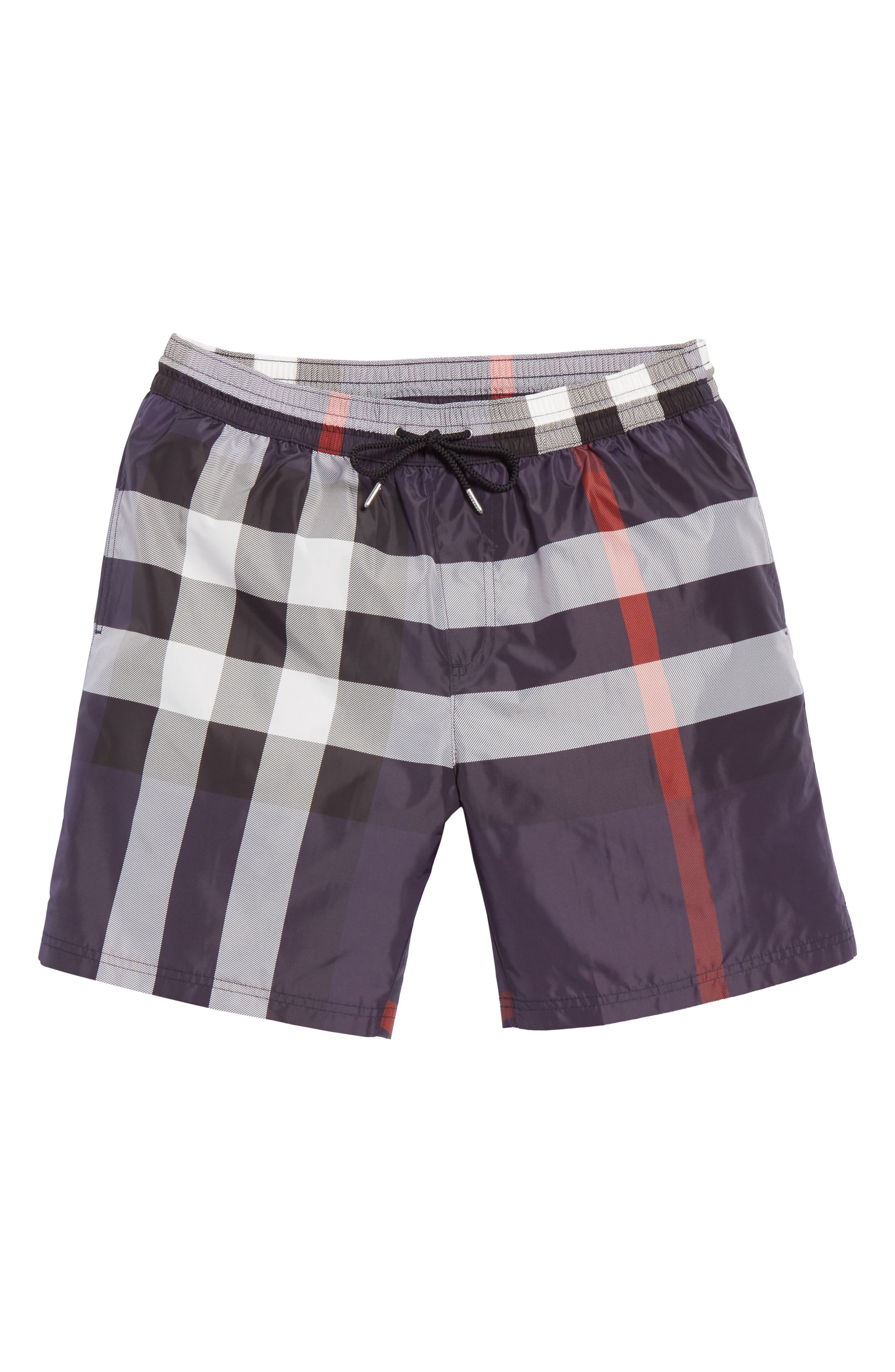 Guildes Check Swim Trunks,                             Alternate thumbnail 6, color,                             410