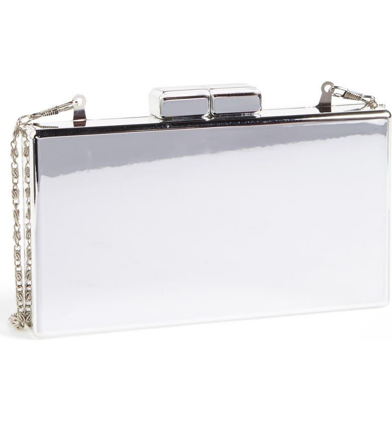 ZZDNU NATASHA COUTURE Natasha Couture  Metallic Mirror  Box Clutch ba30b74e30fb3