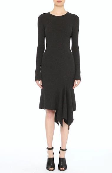 Merino Wool Blend Handkerchief Hem Dress, video thumbnail